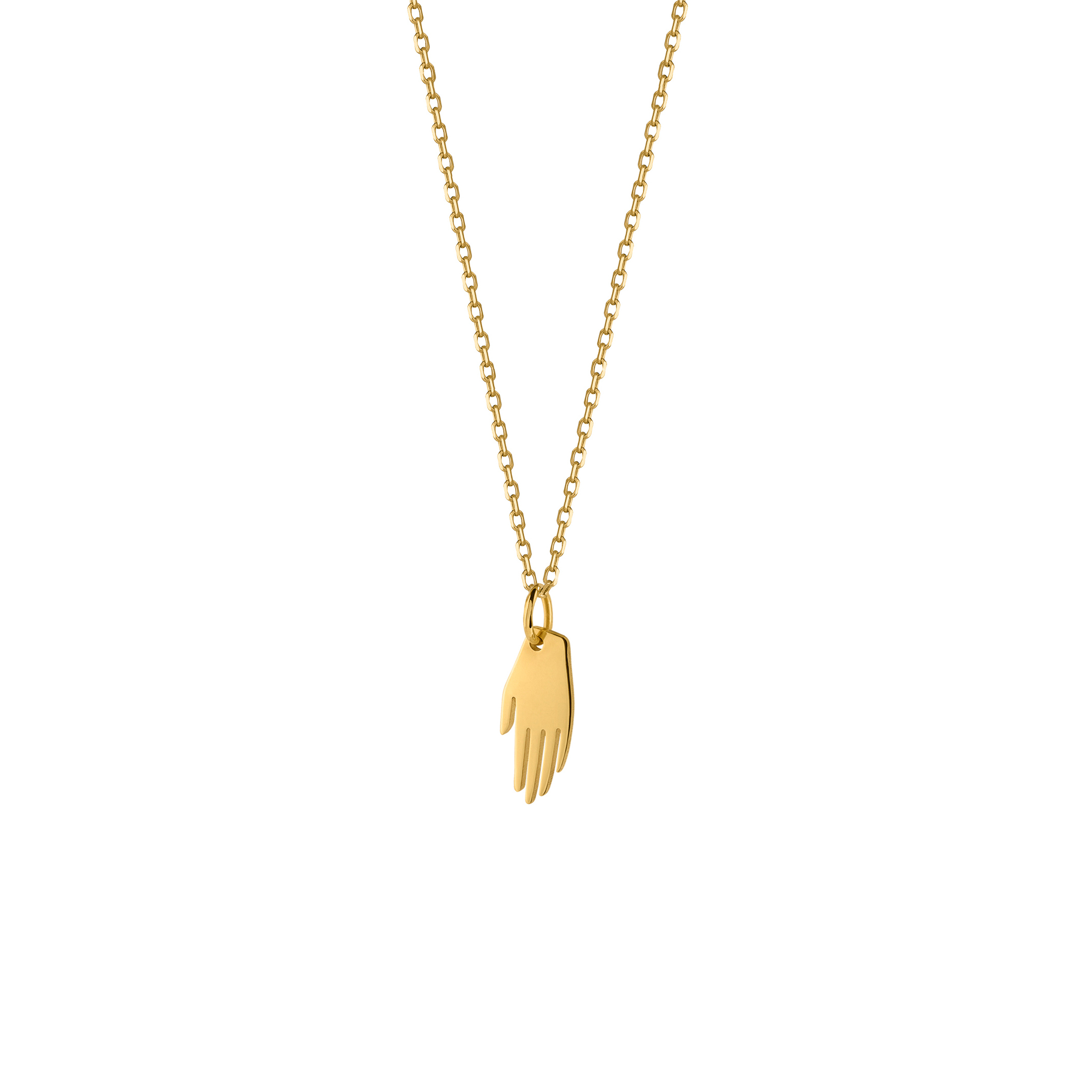 Mini Hand Necklace Gold