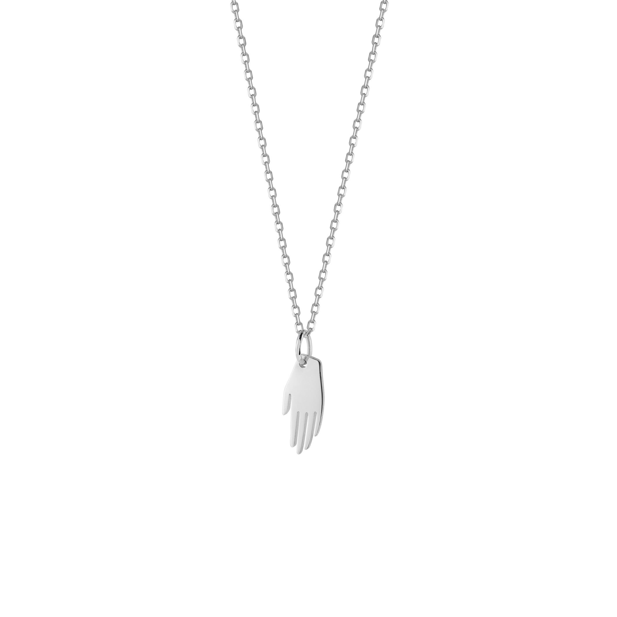 Mini Hand Necklace Silver