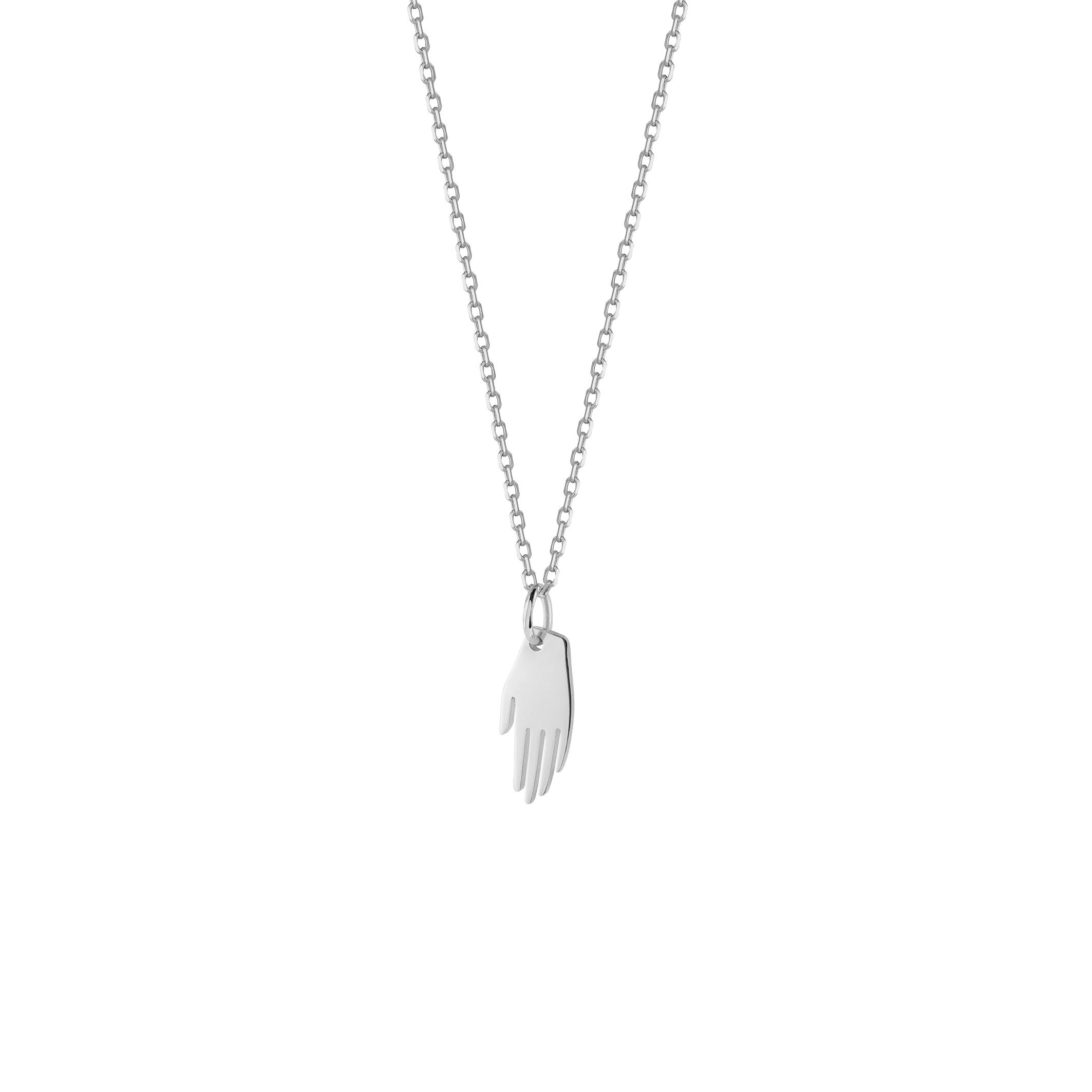 mini hand necklace/ silver