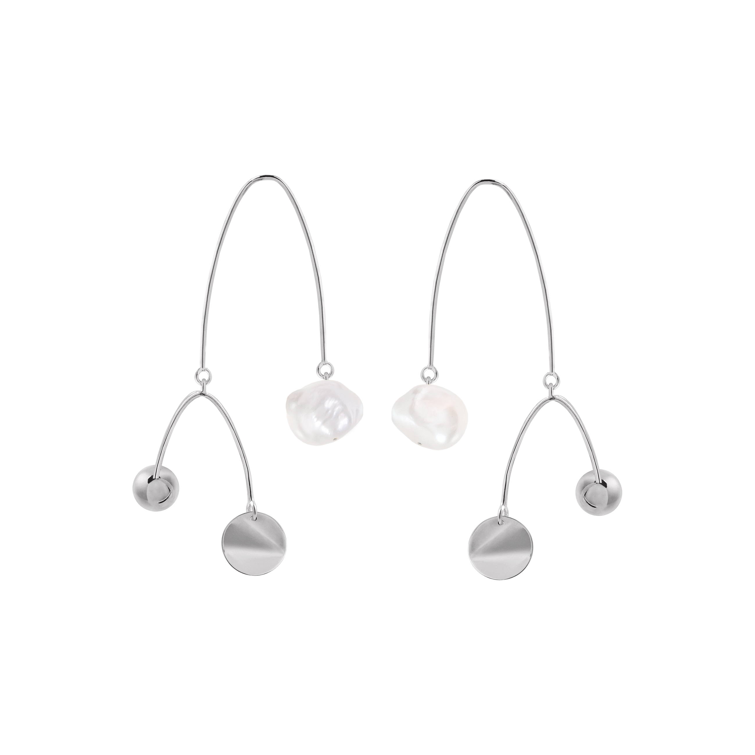 Mobile Earrings 1 Silver