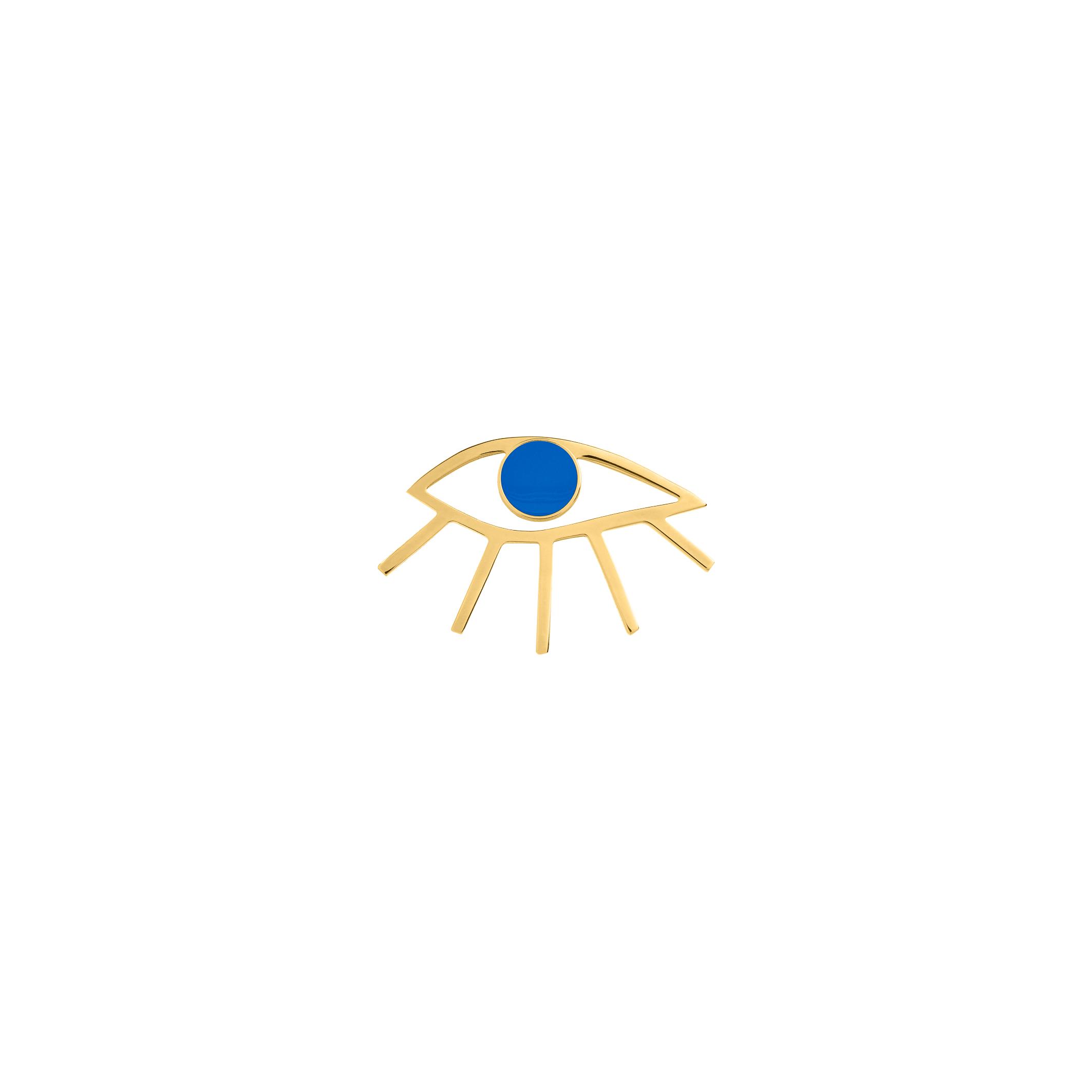 eye pin-blue