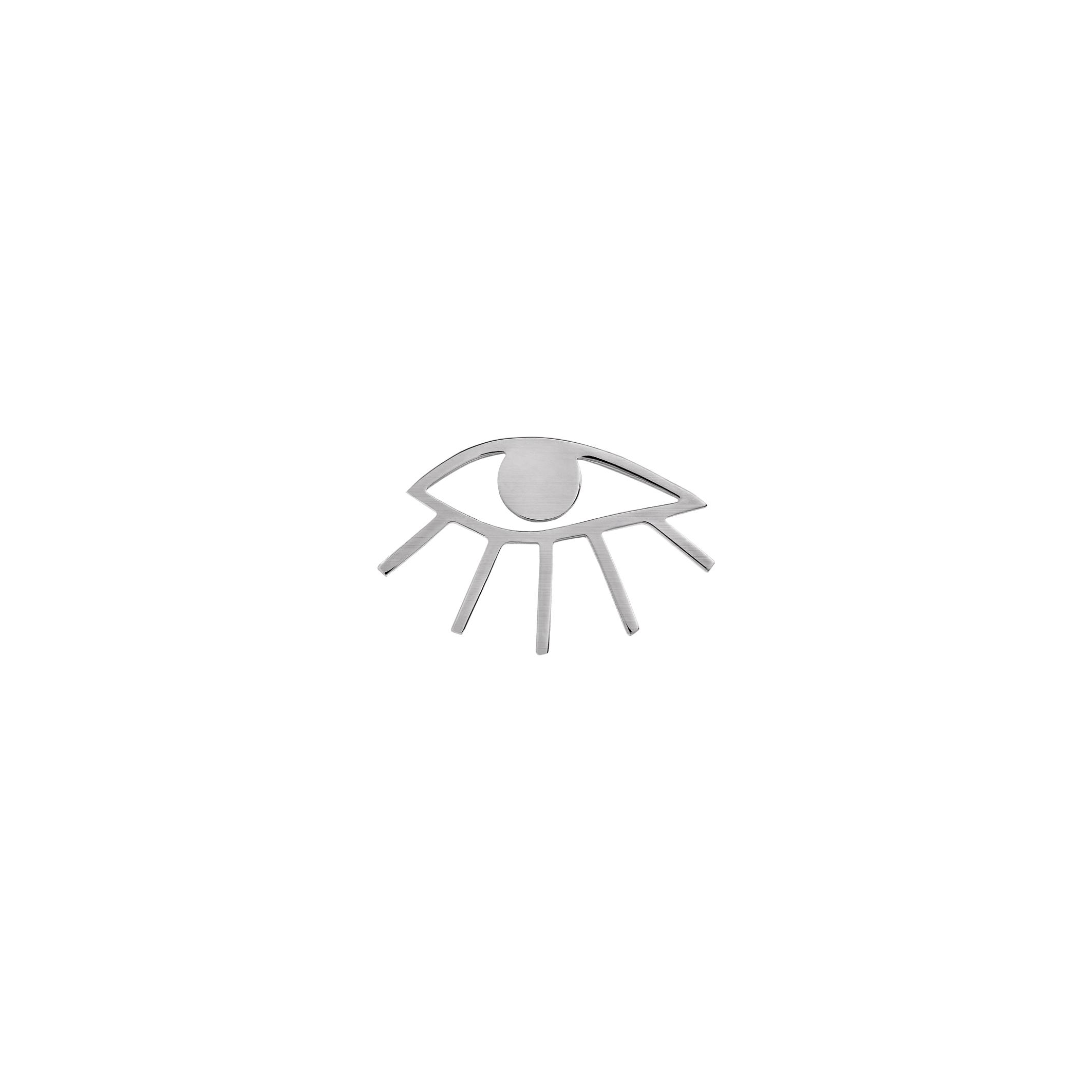 eye pin- silver
