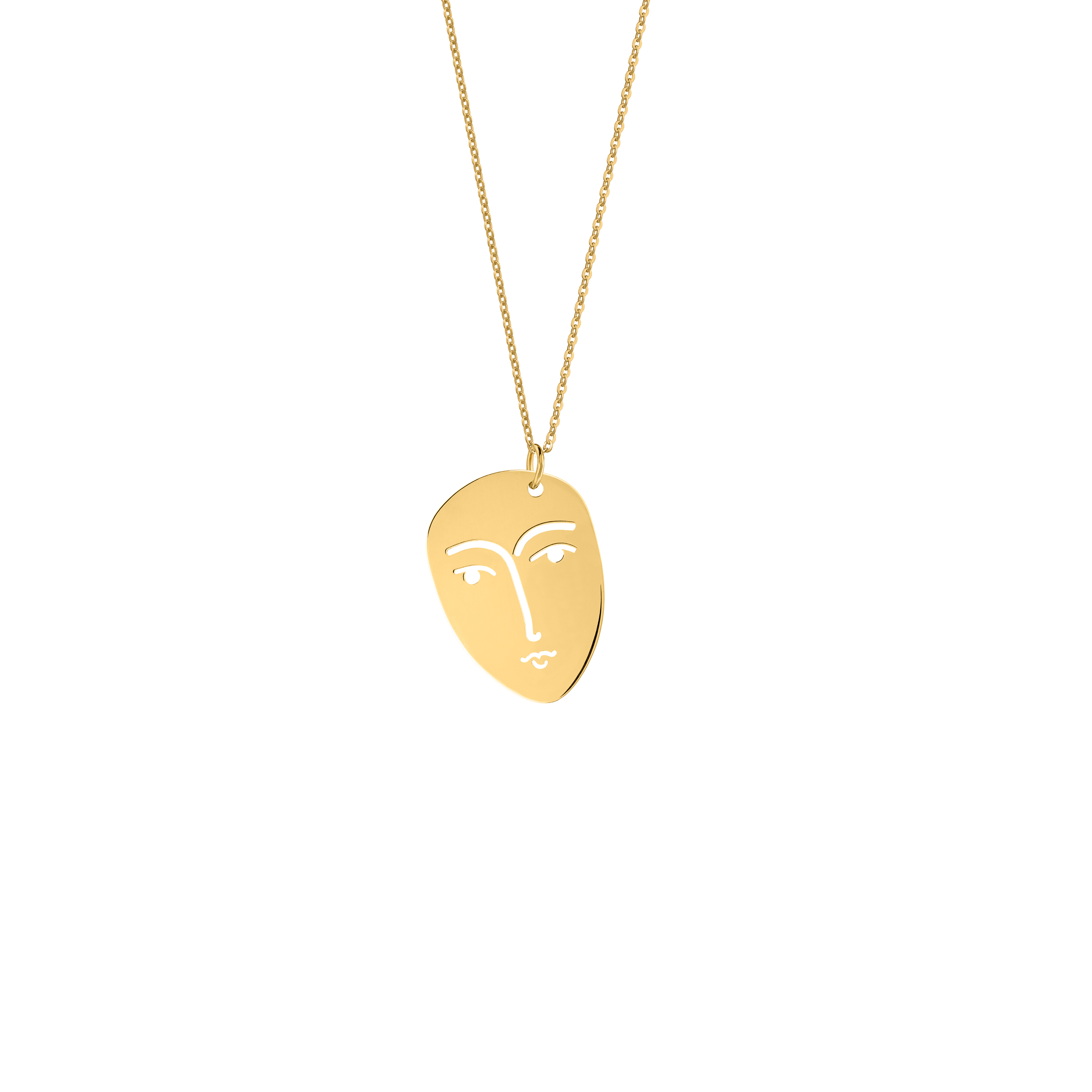 face necklace gold