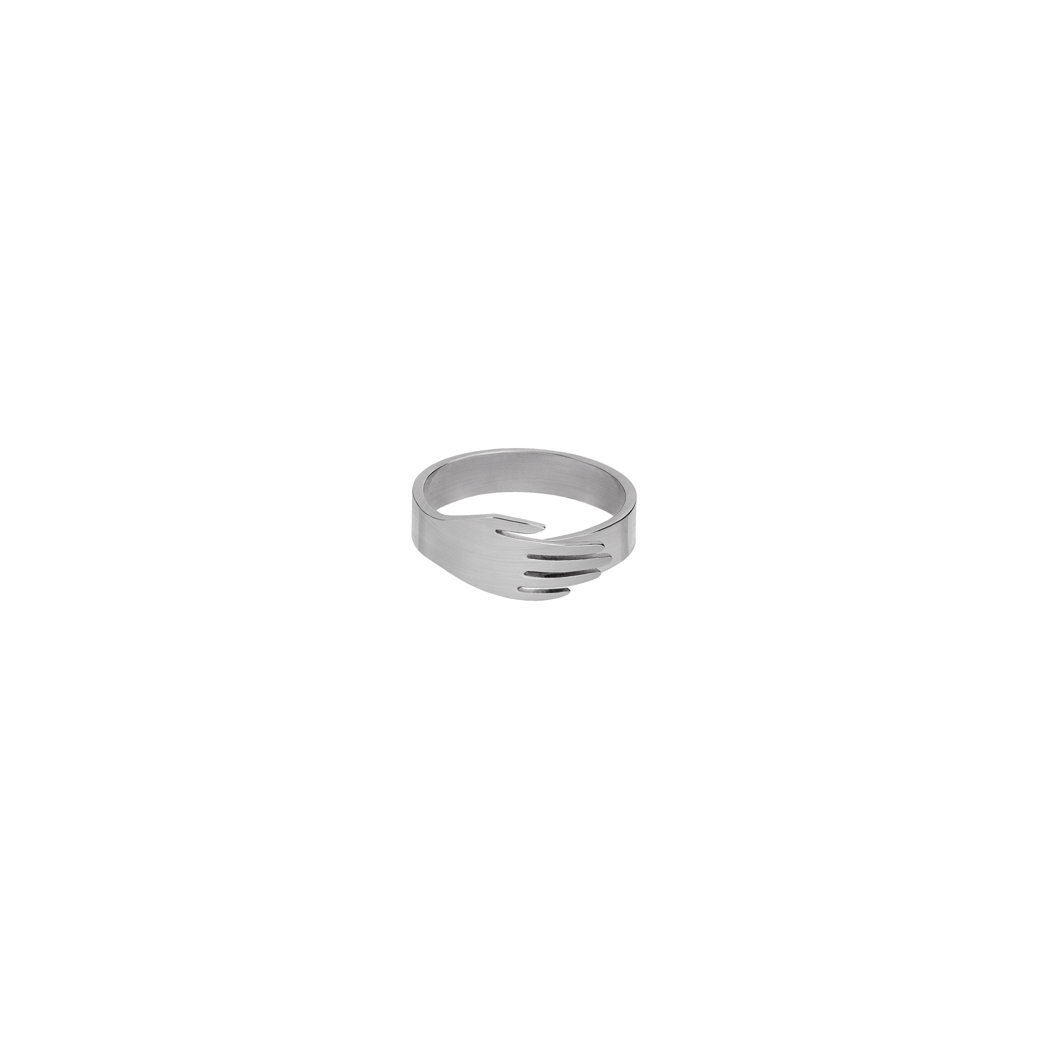 Hand Ring Silver 2