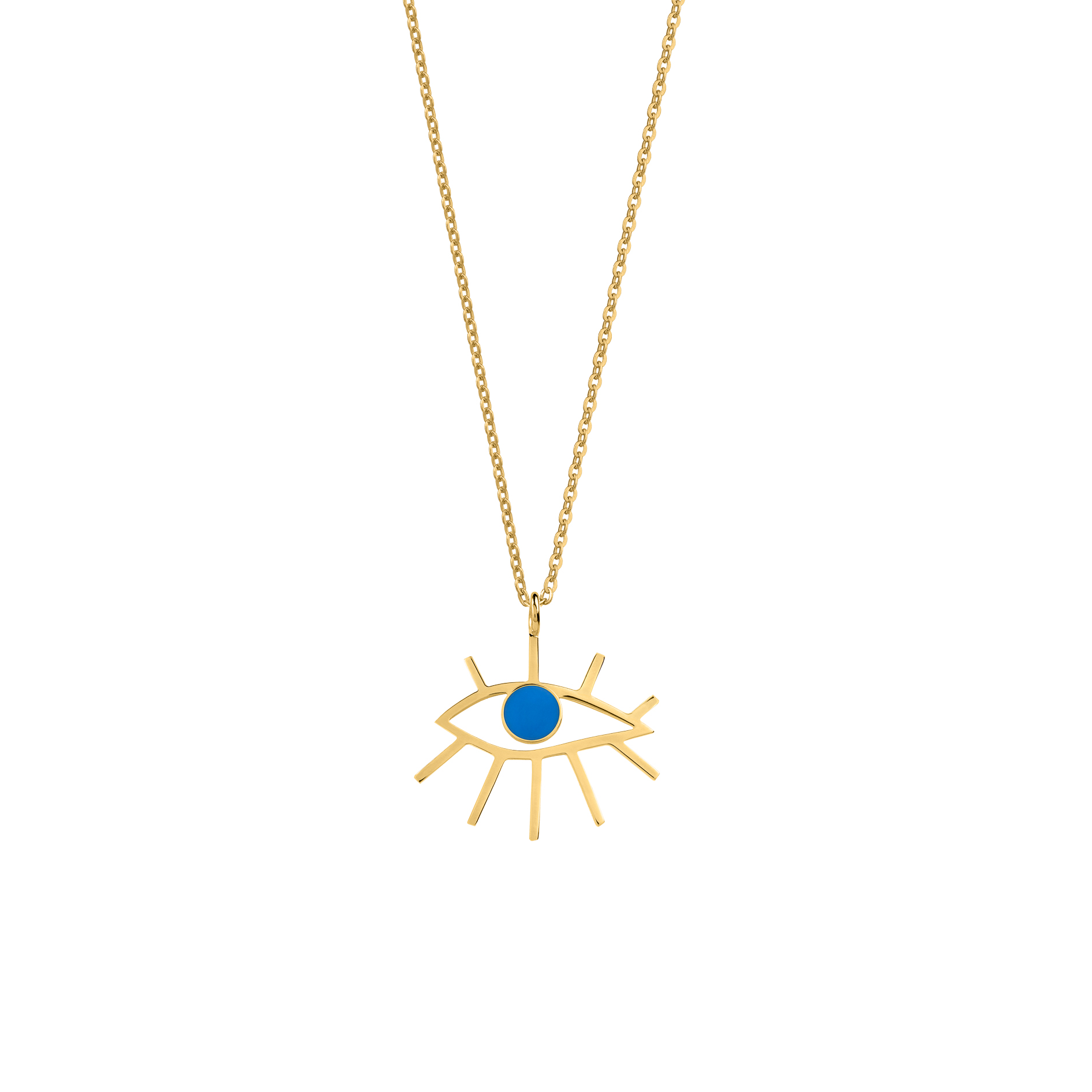 Eye Necklace Blue