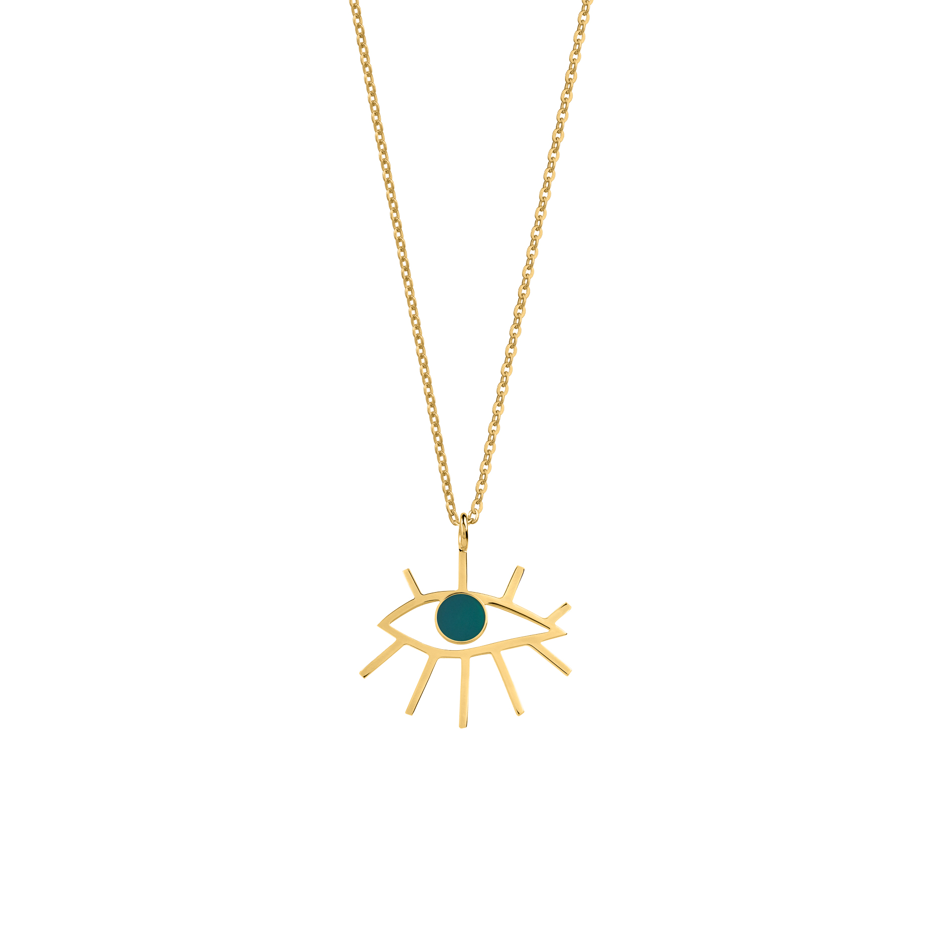 Eye Necklace Green