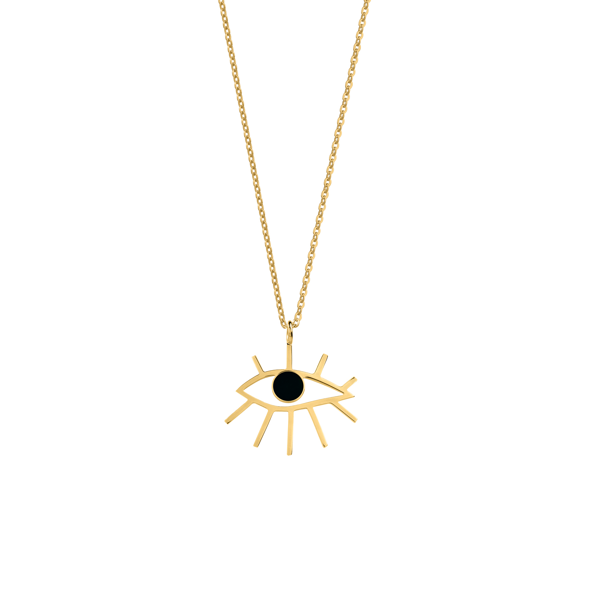 eye necklace black