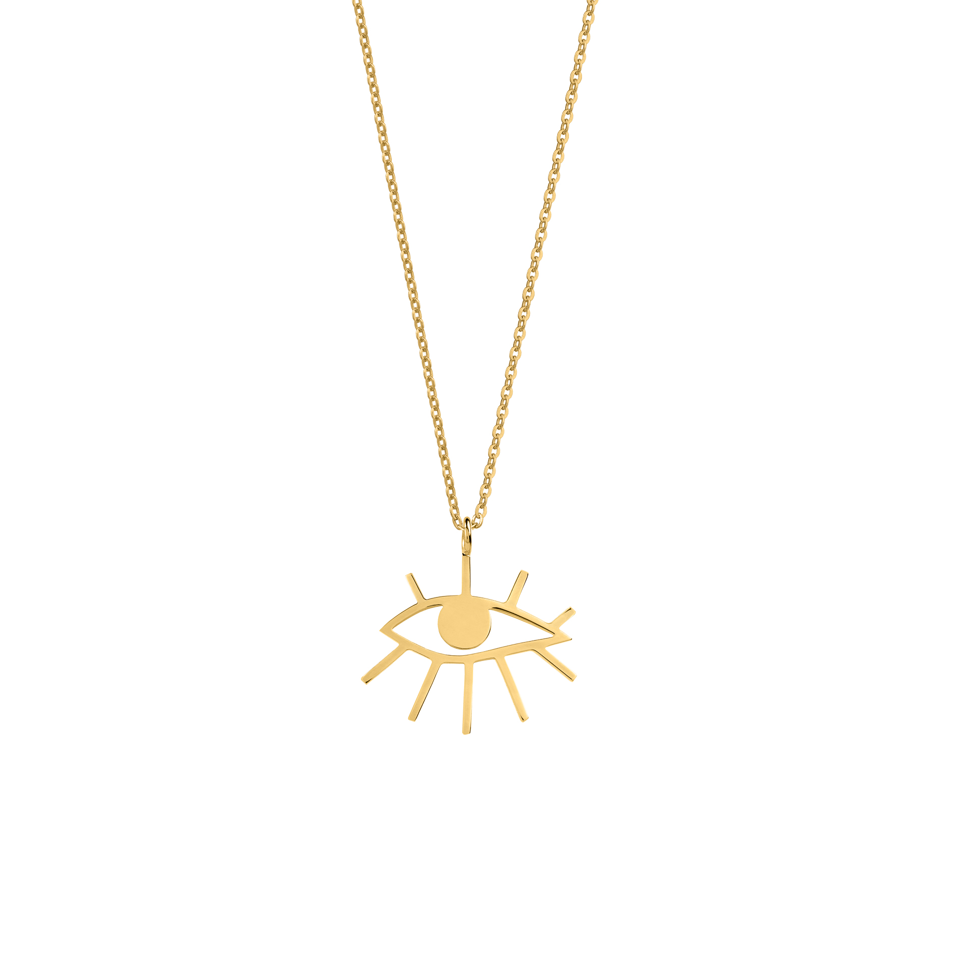 Mini Eye Necklace Gold