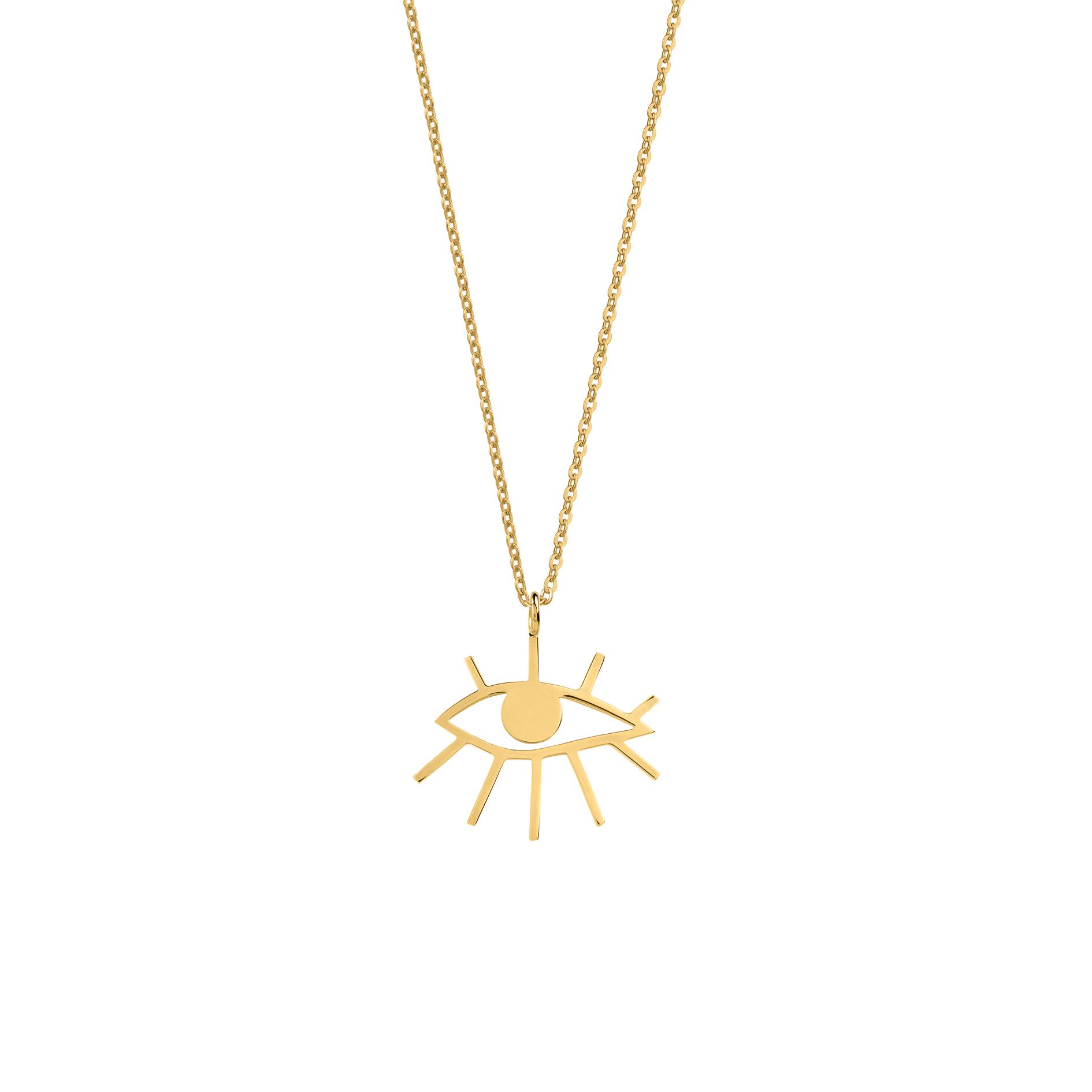 Mini Eye Necklace Gold