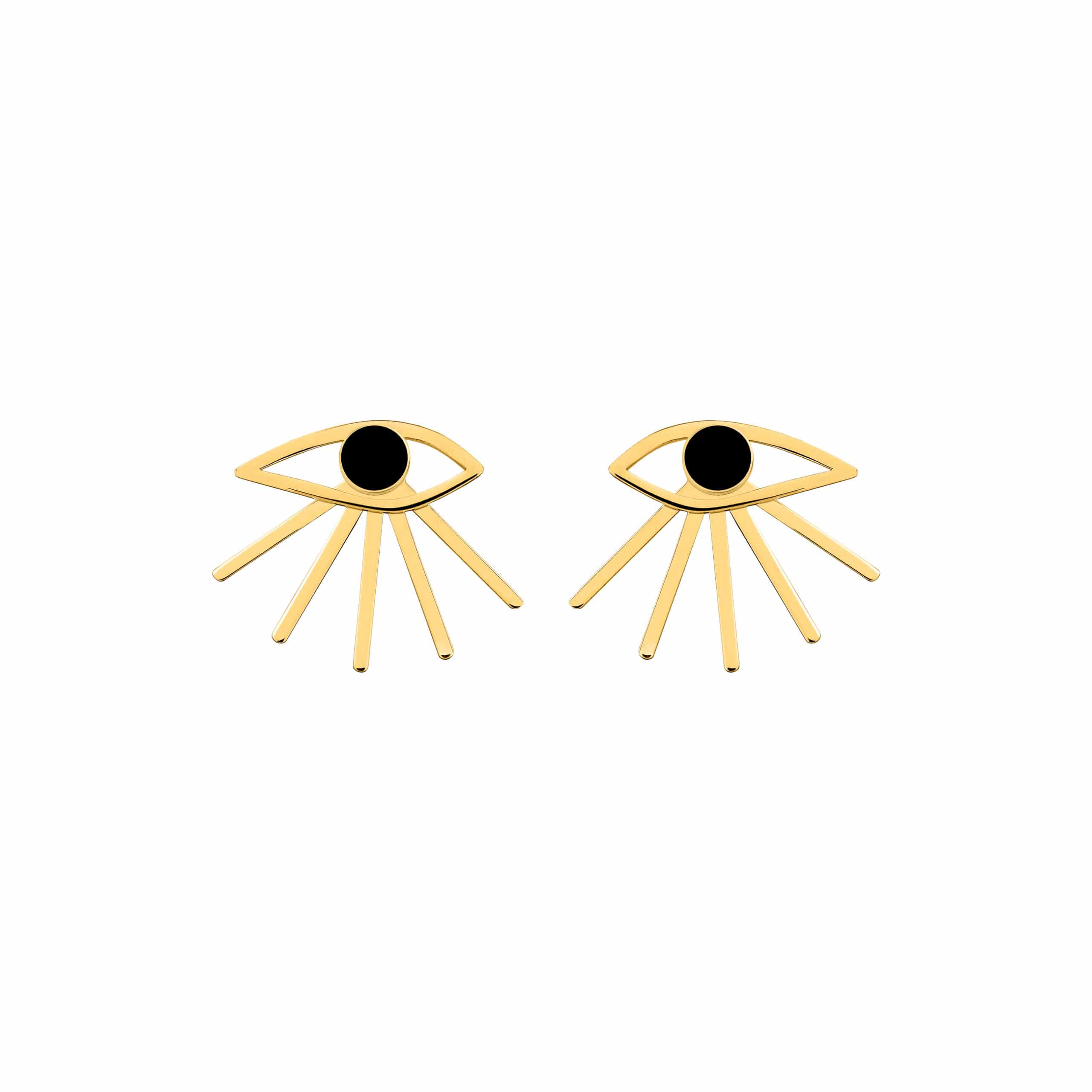 Mini Eye Earrings Black