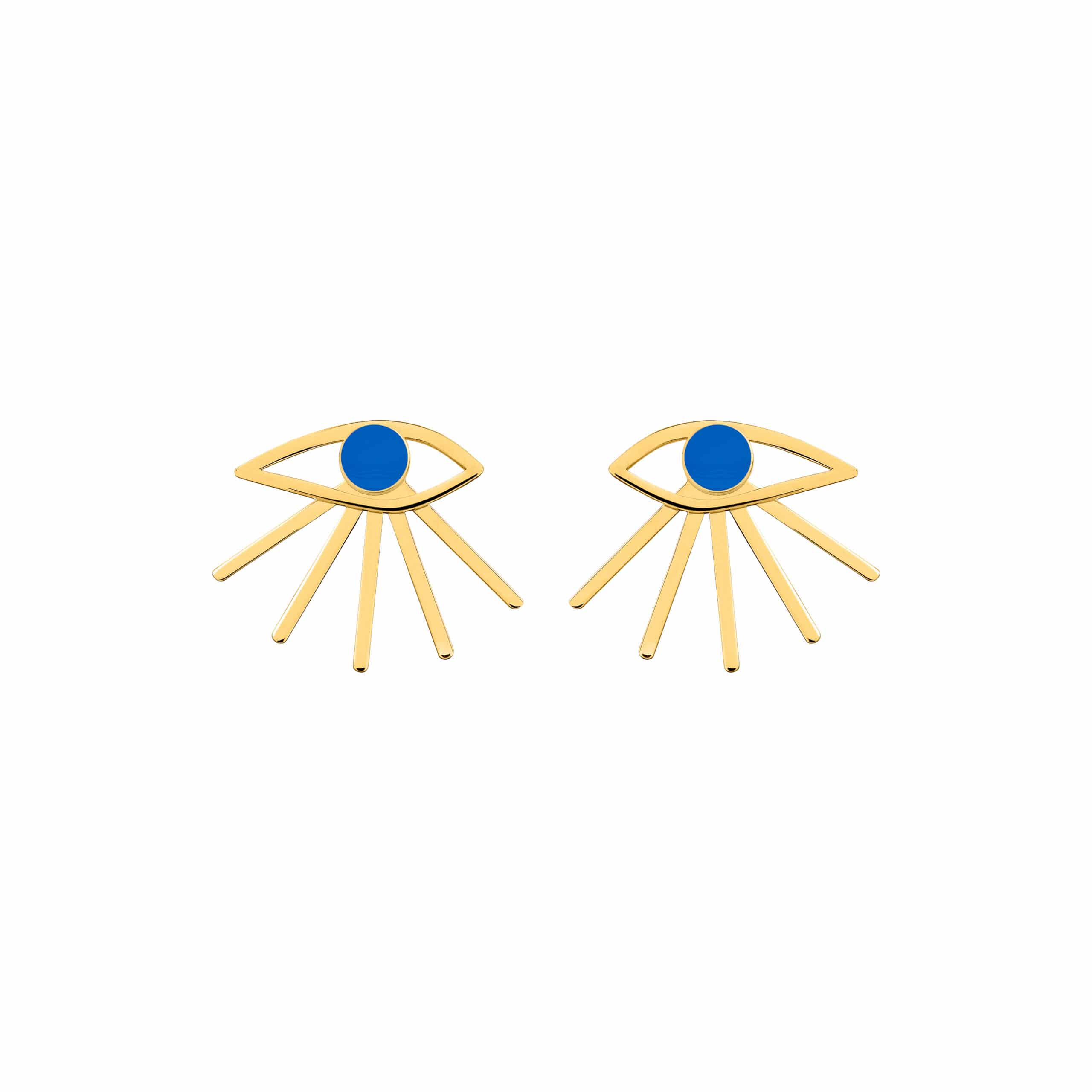 Mini Eye Earrings Blue