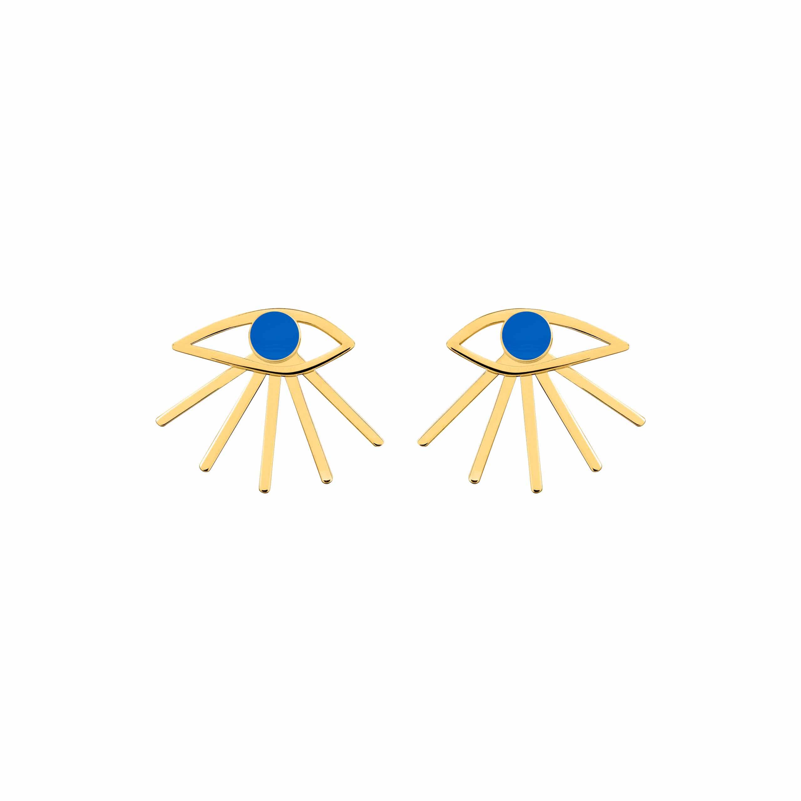 Mini Eye Earrings Blue