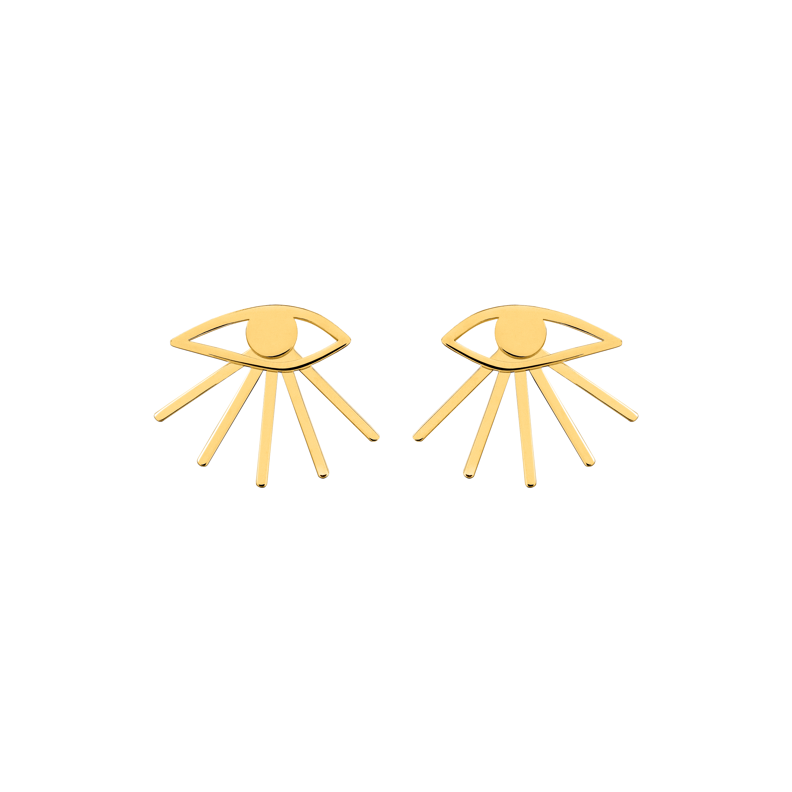 Mini Eye Earrings Gold