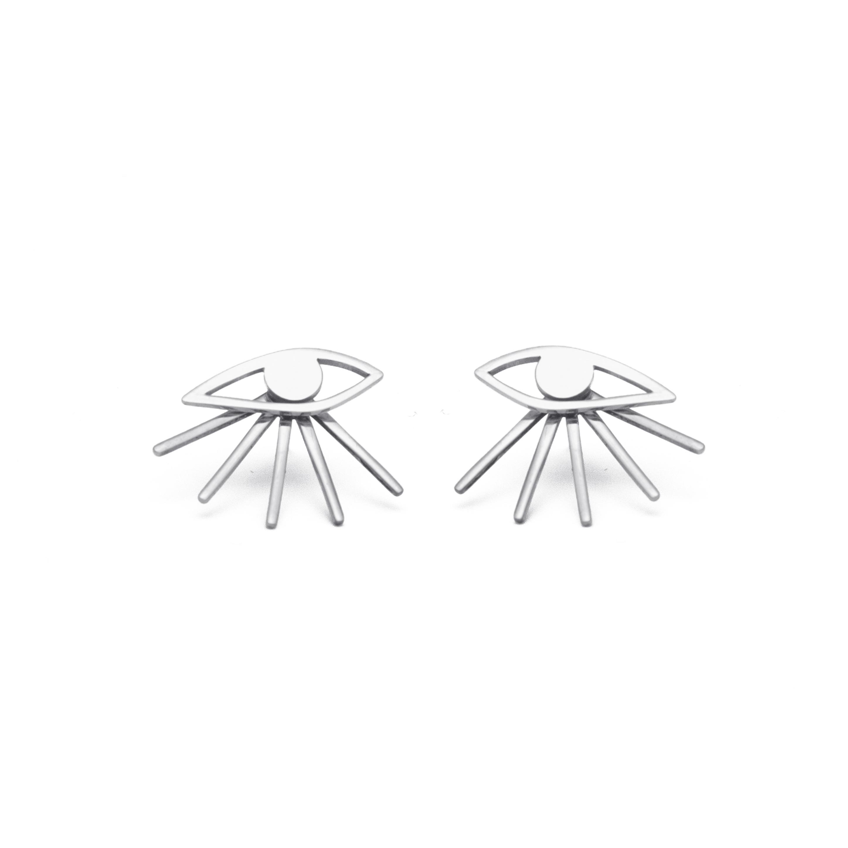 mini eye earrings / silver