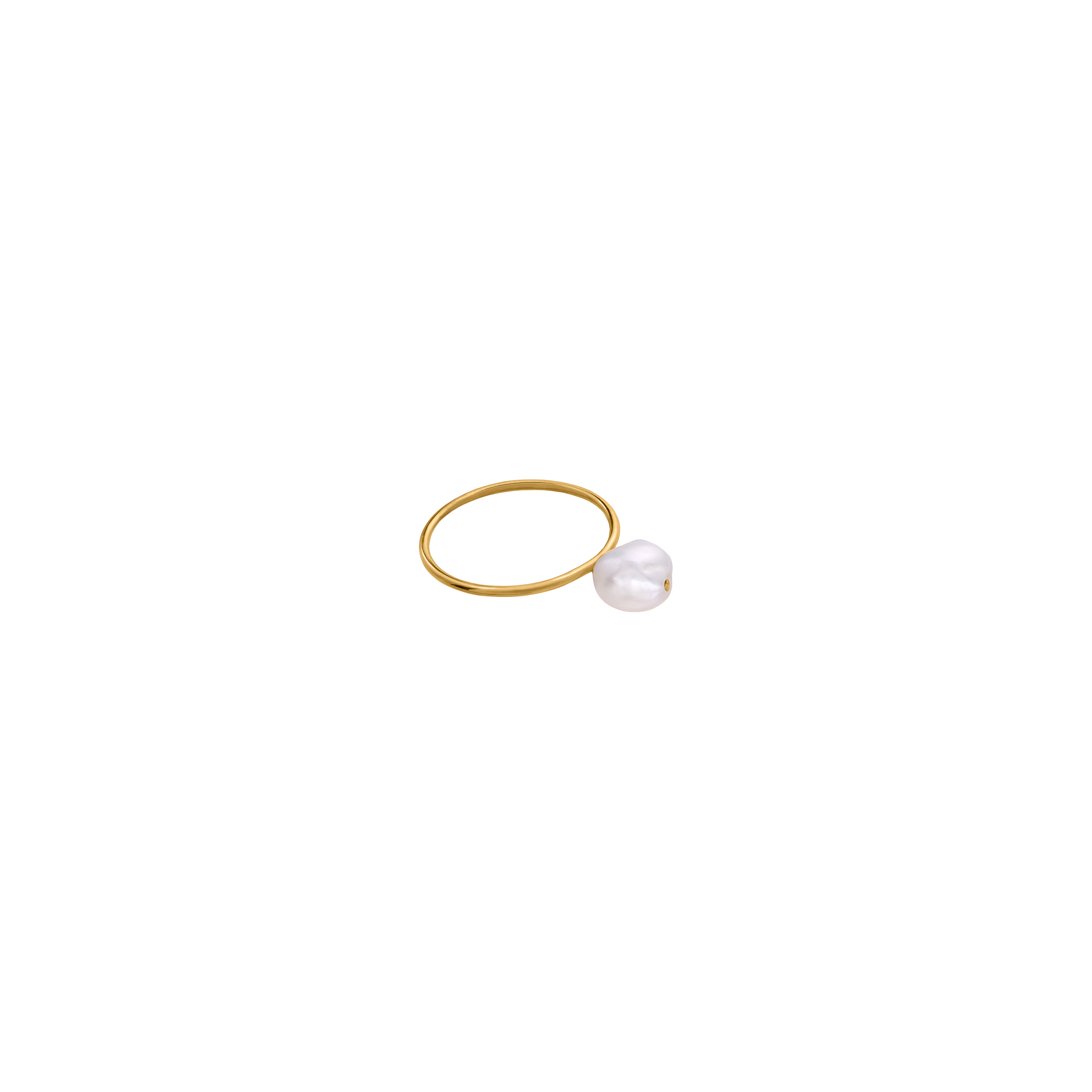 PEARL RING/ GOLD- PLATED