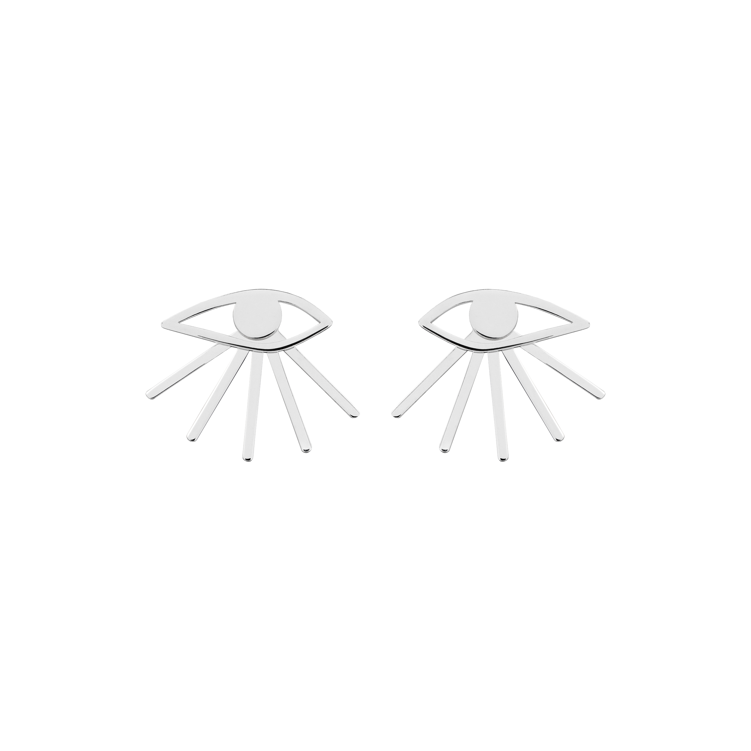 MINI EYE EARRINGS/ SILVER