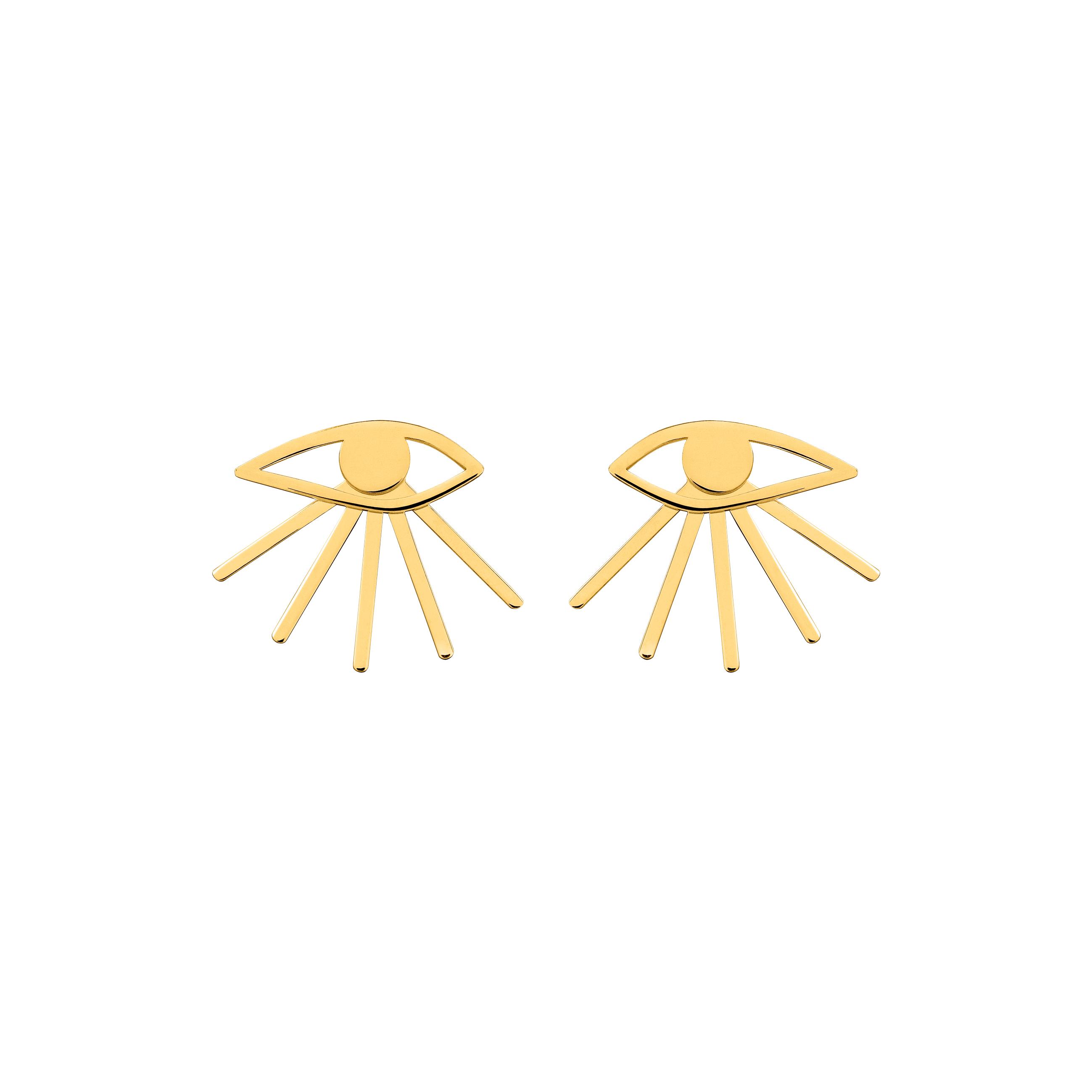 MINI EYE EARRINGS/ GOLD