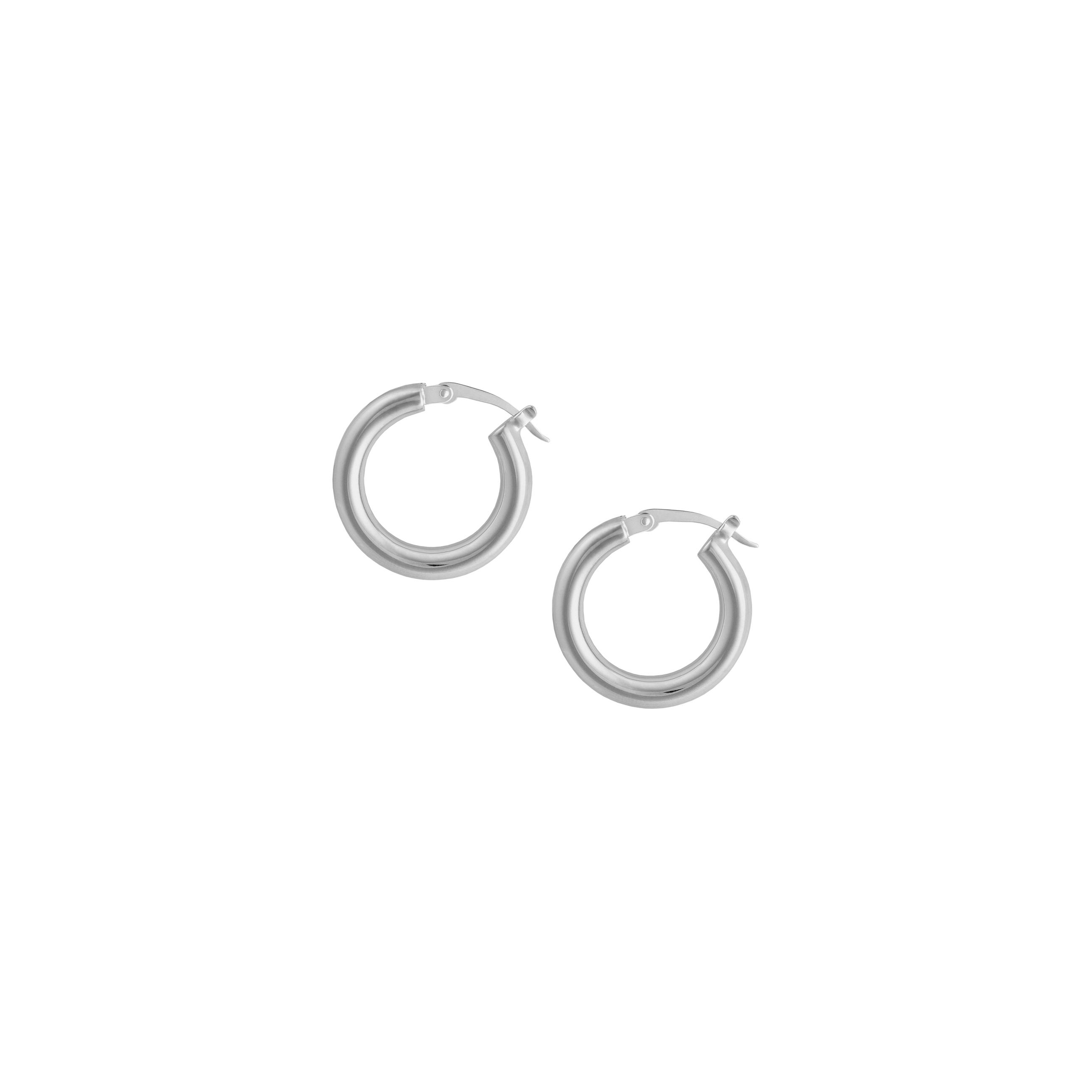 hoops medium silver