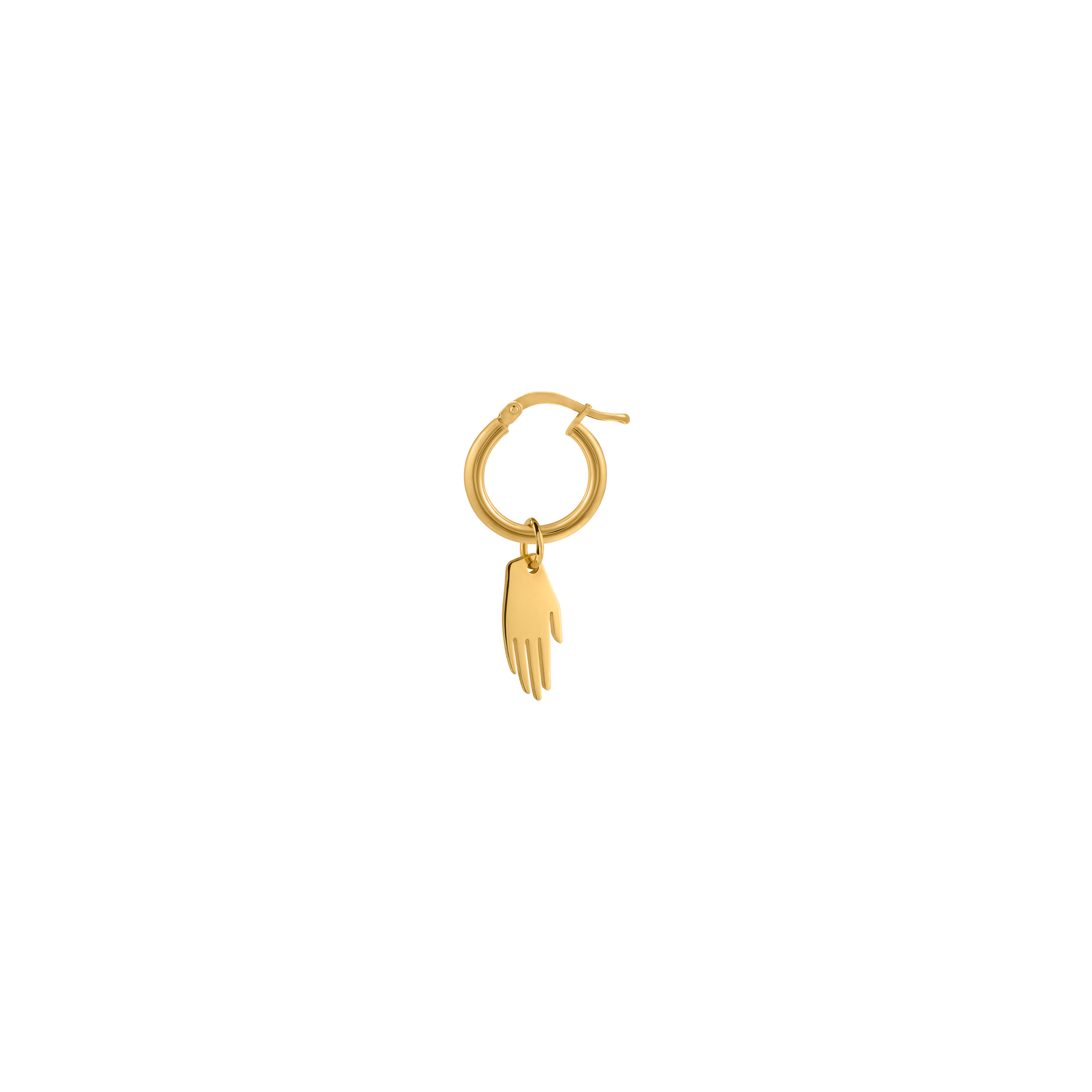 Circle hand earring /gold