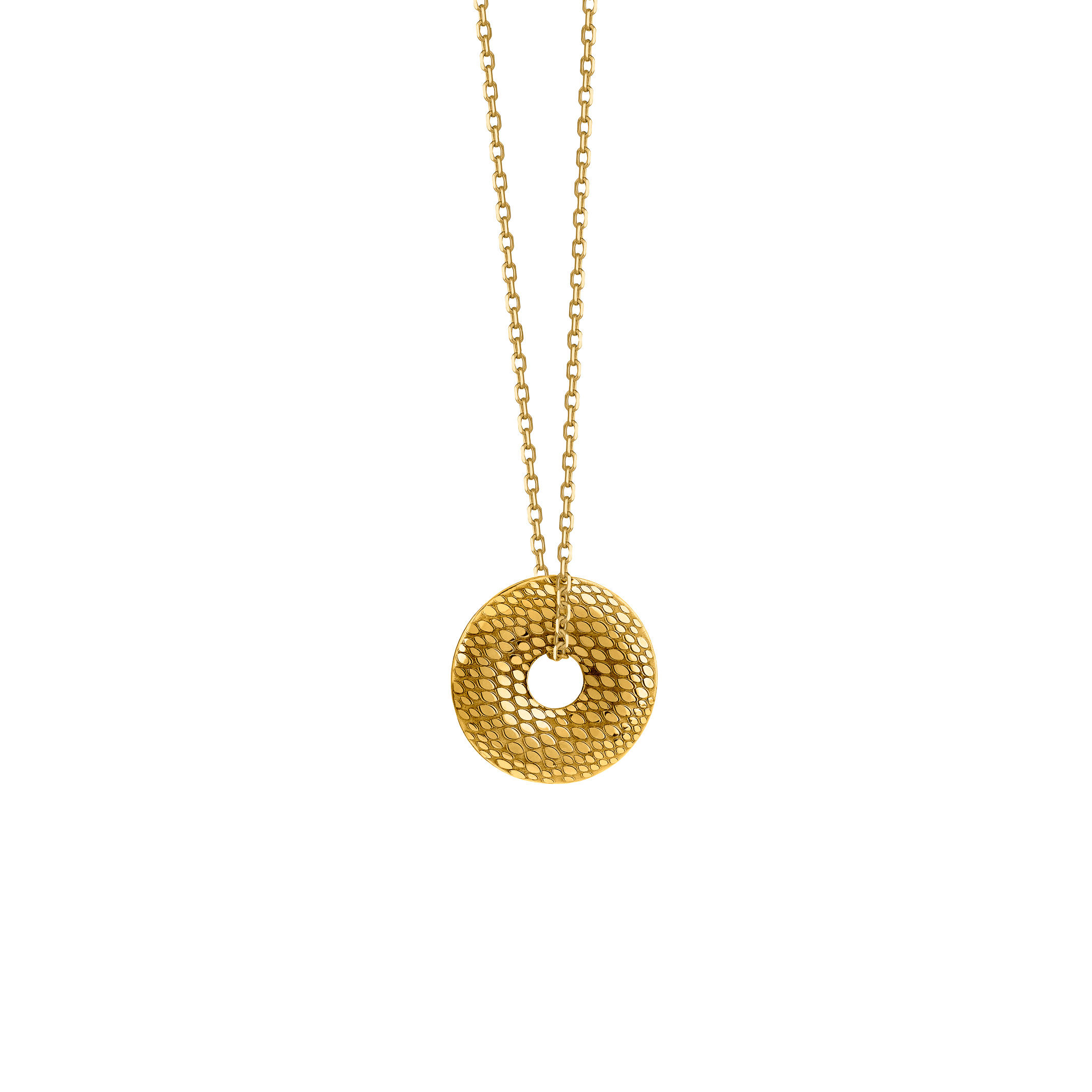 Snake donut necklace