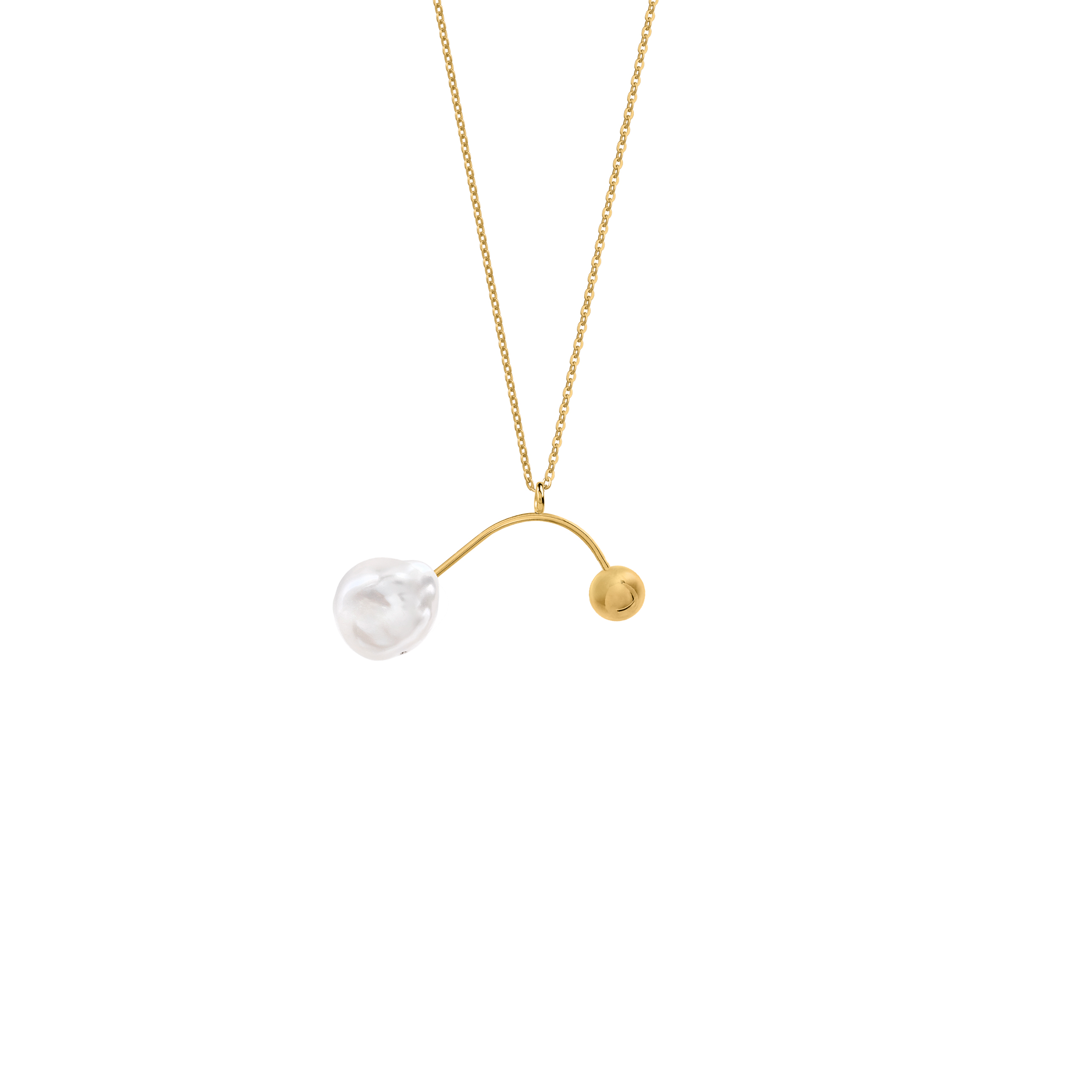 Mobile Pearl Necklace Gold