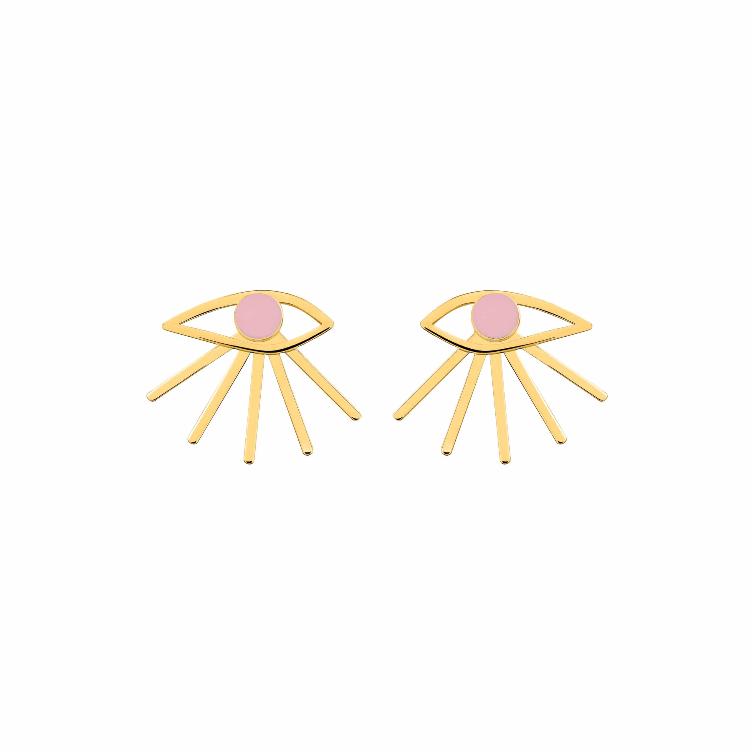 Mini Eye Earrings Pink