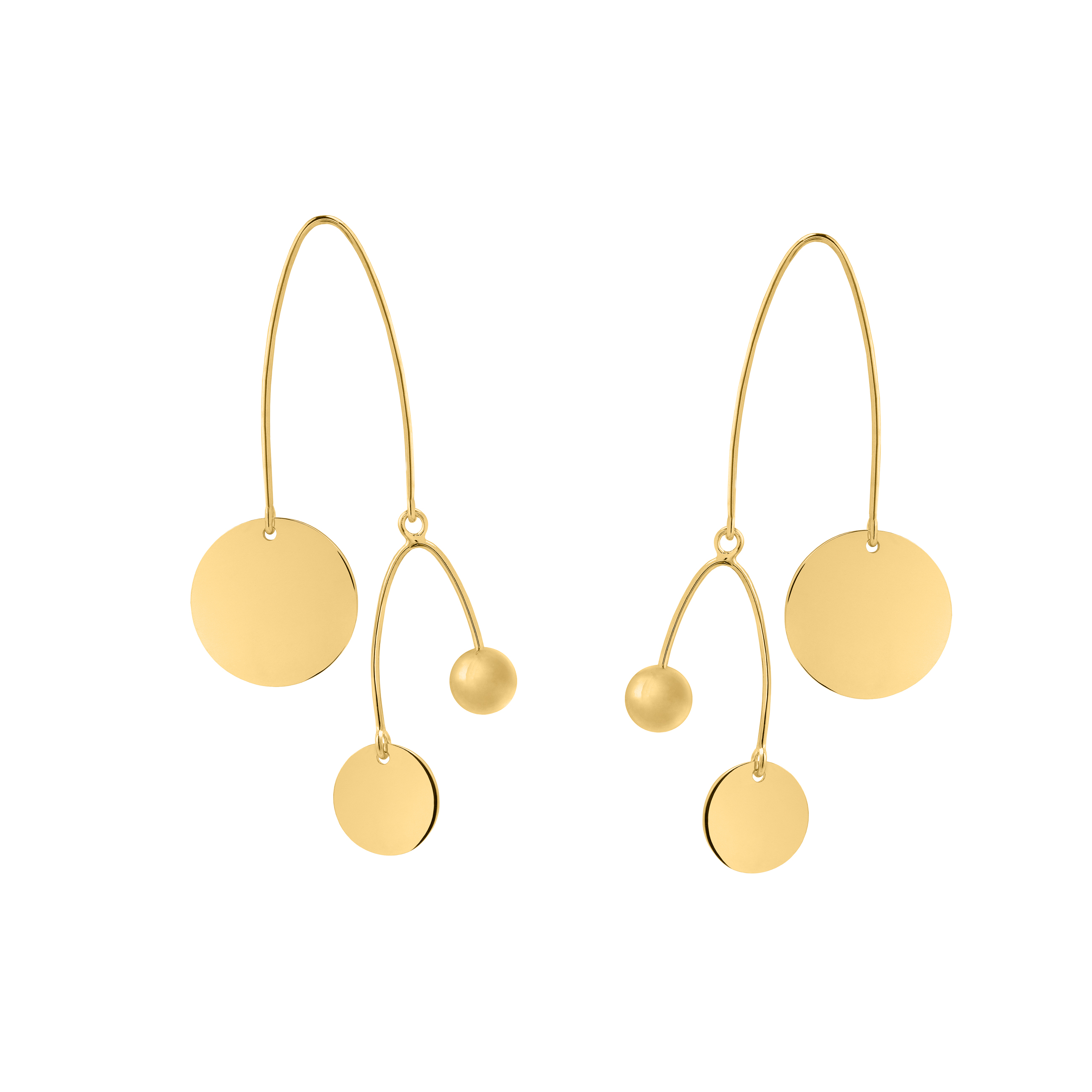 mobile earrings gold
