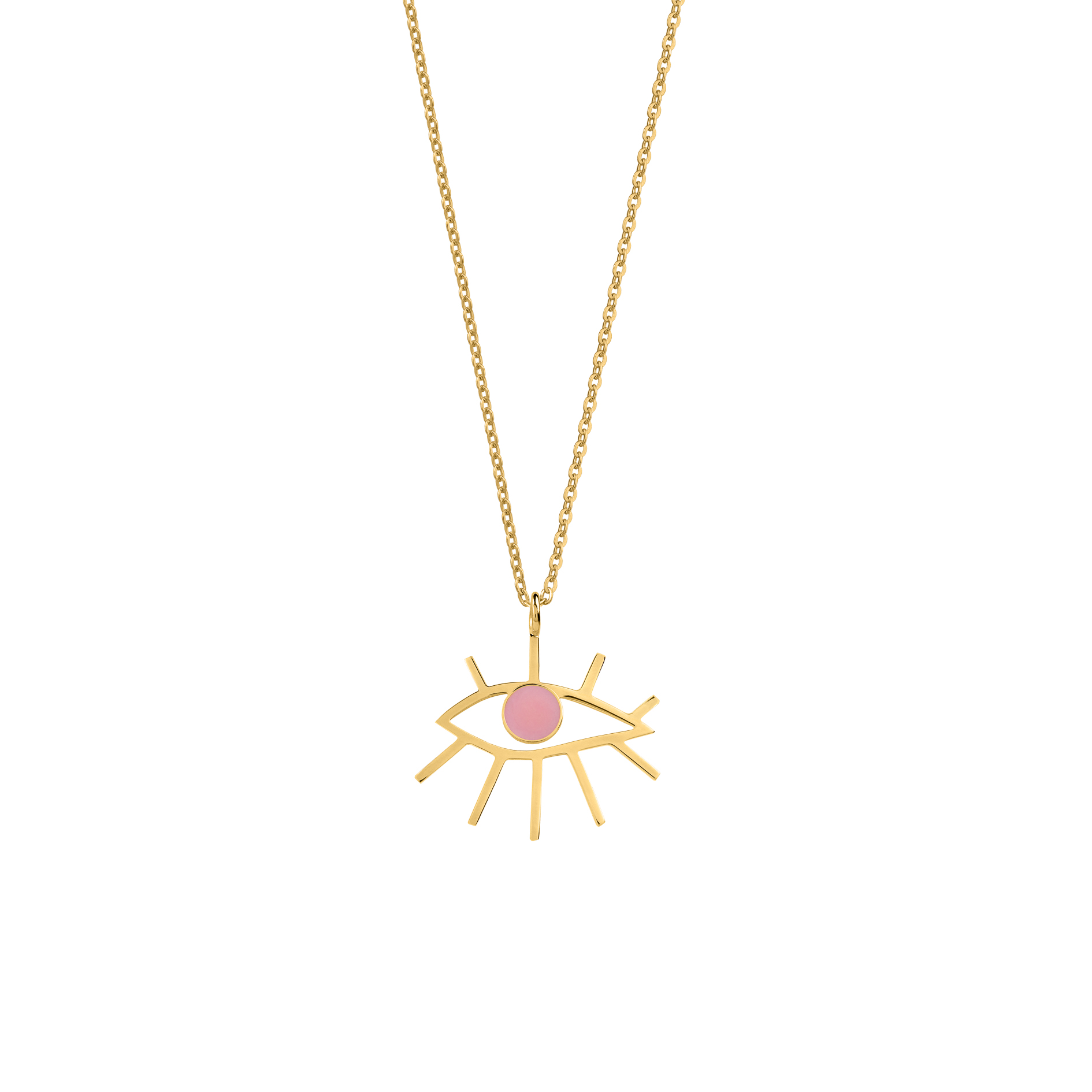 EYE NECKLACE PINK