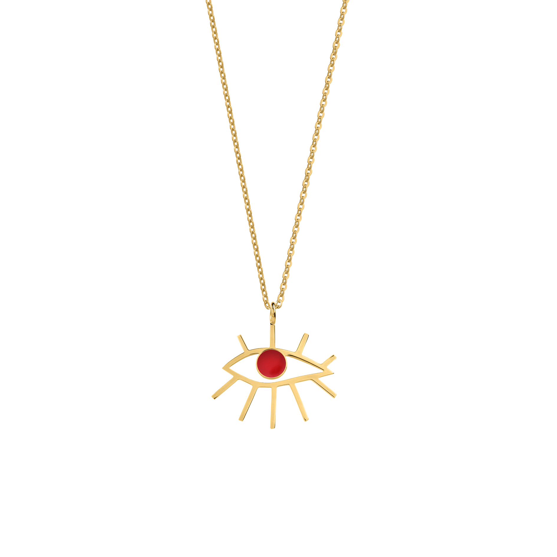 Eye Necklace Red