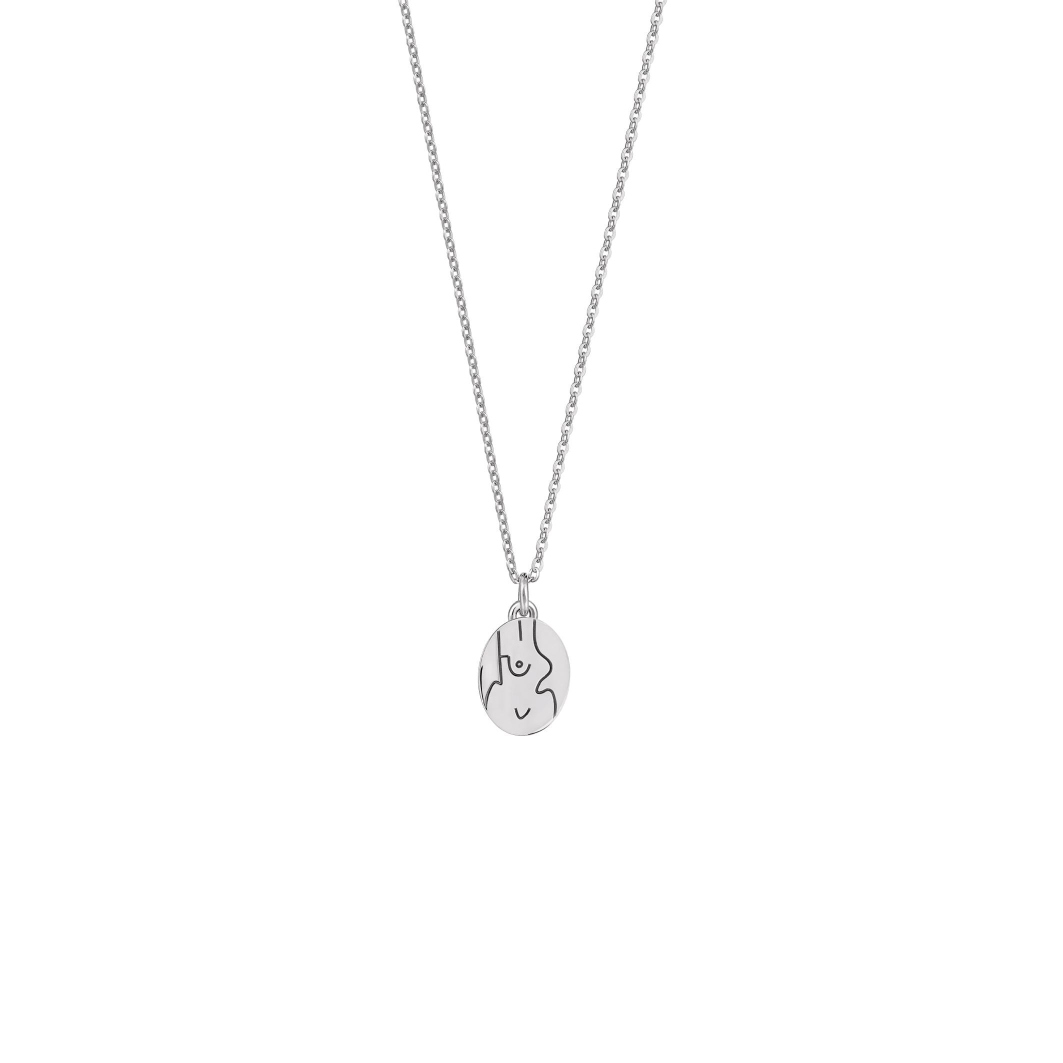 Mini Medalion Féminin Silver