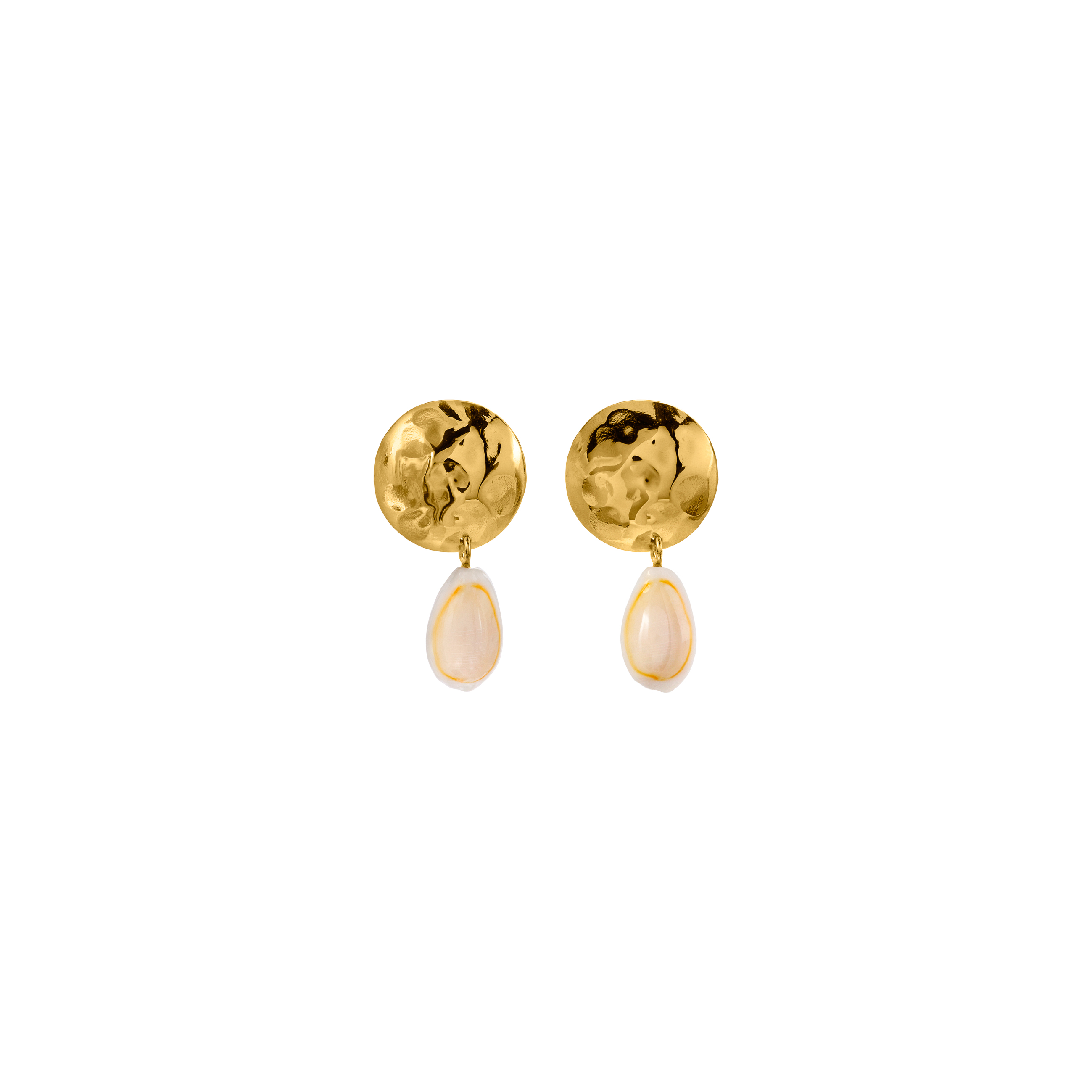 shell earrings gold limited edition