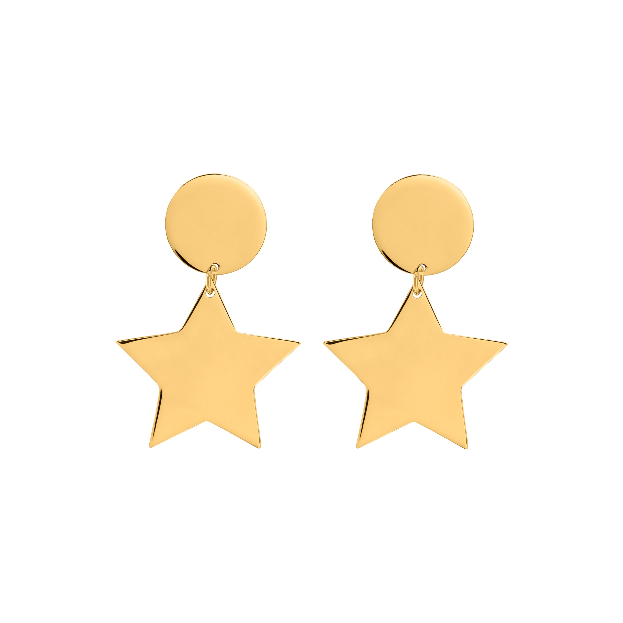star earrings/ big