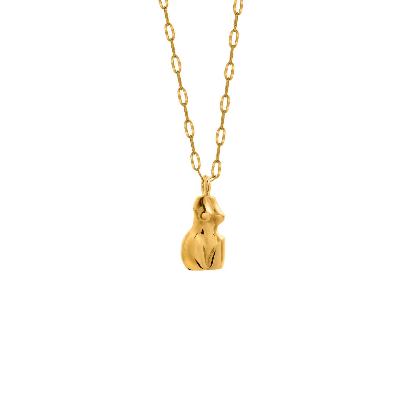 Woman Necklace 3D Gold