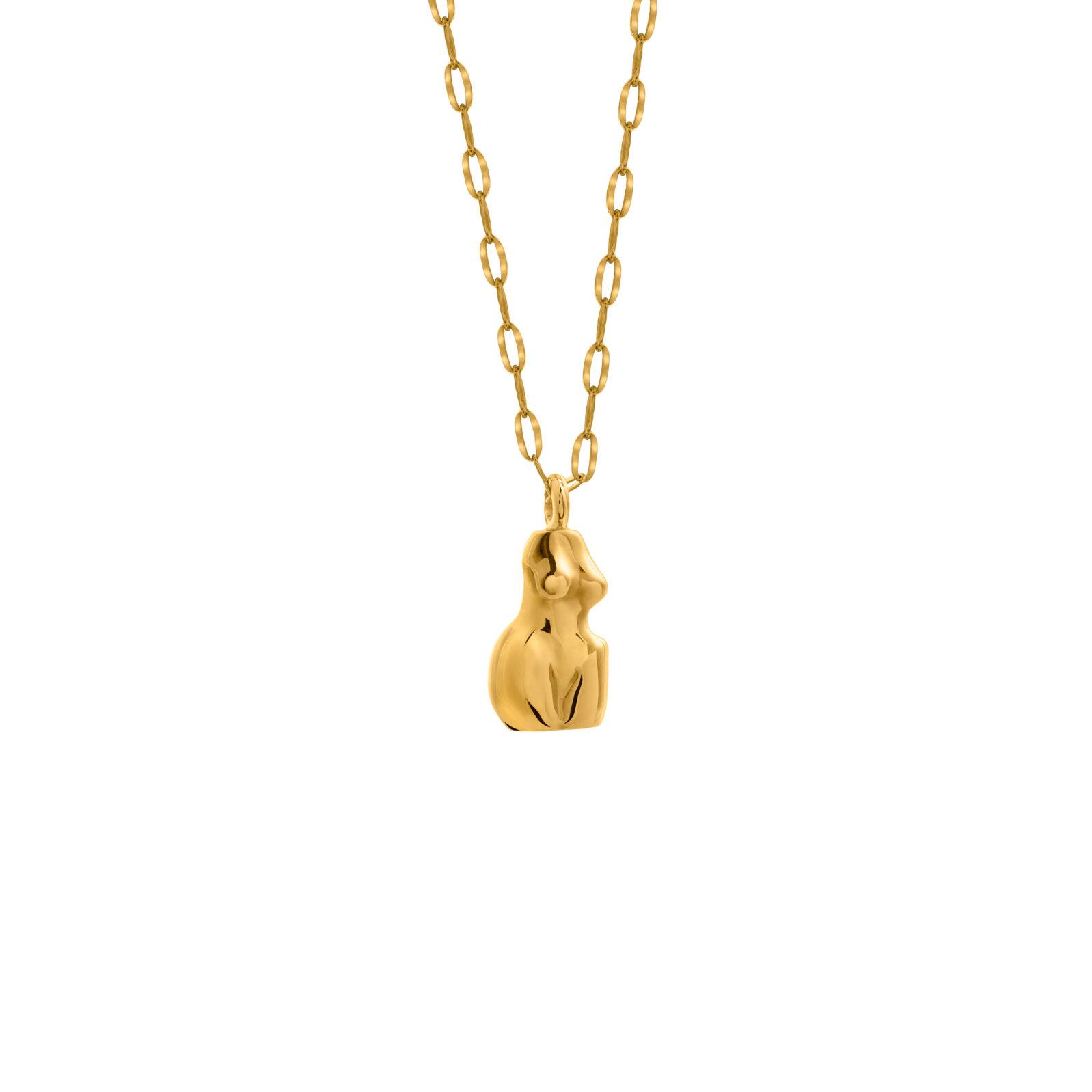 Woman Necklace 3D Gold
