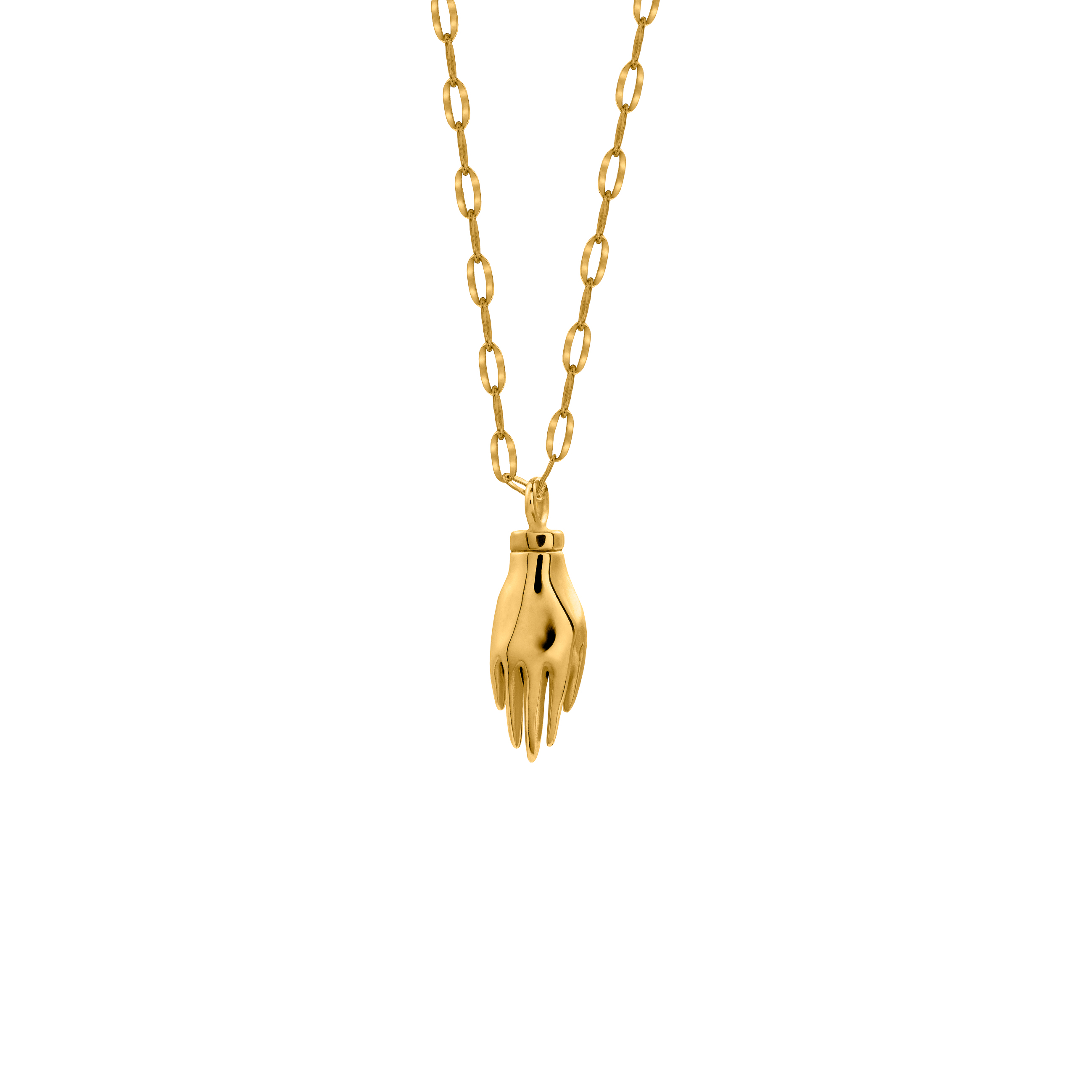 Hand Necklace 3D Gold
