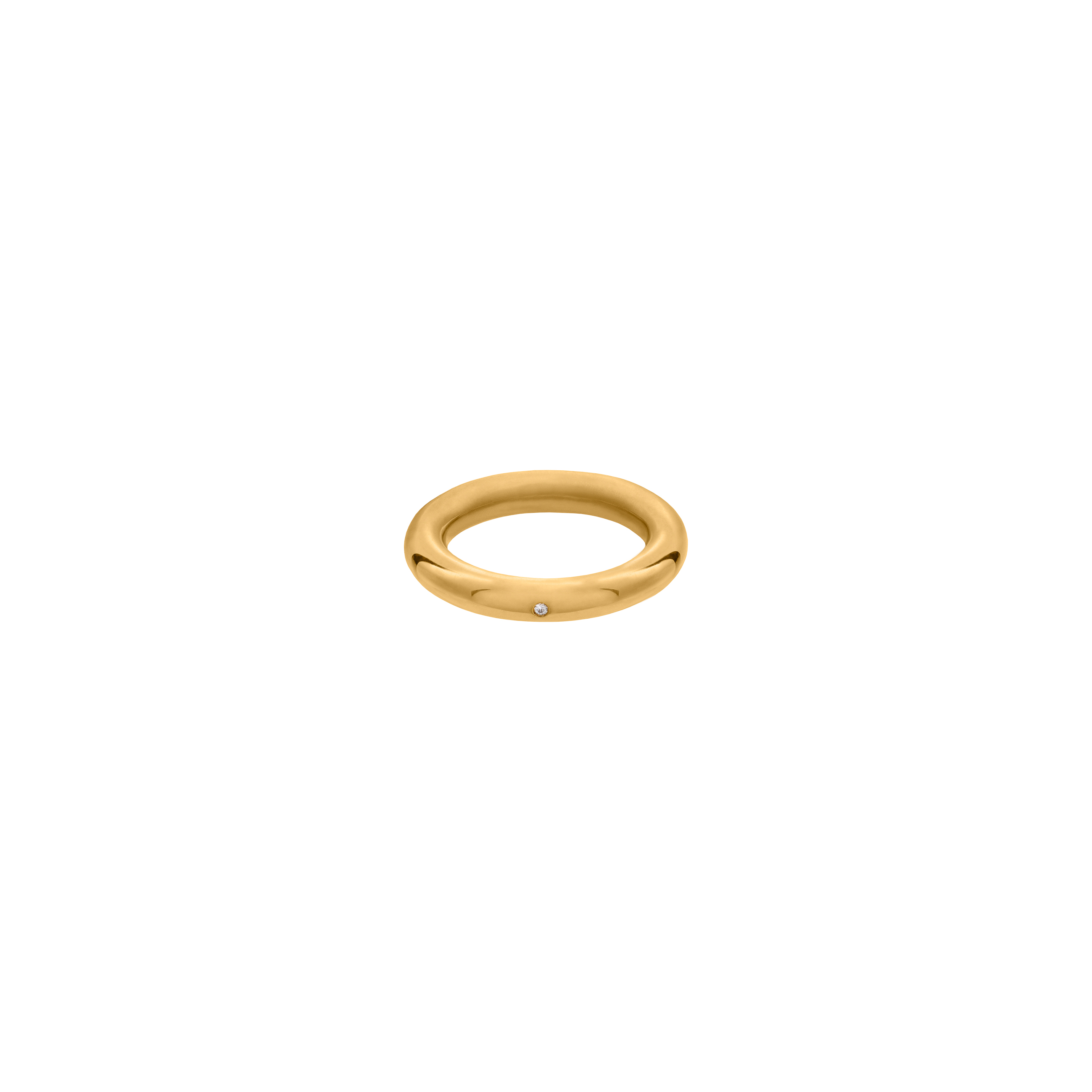 simple zirconia ring / gold