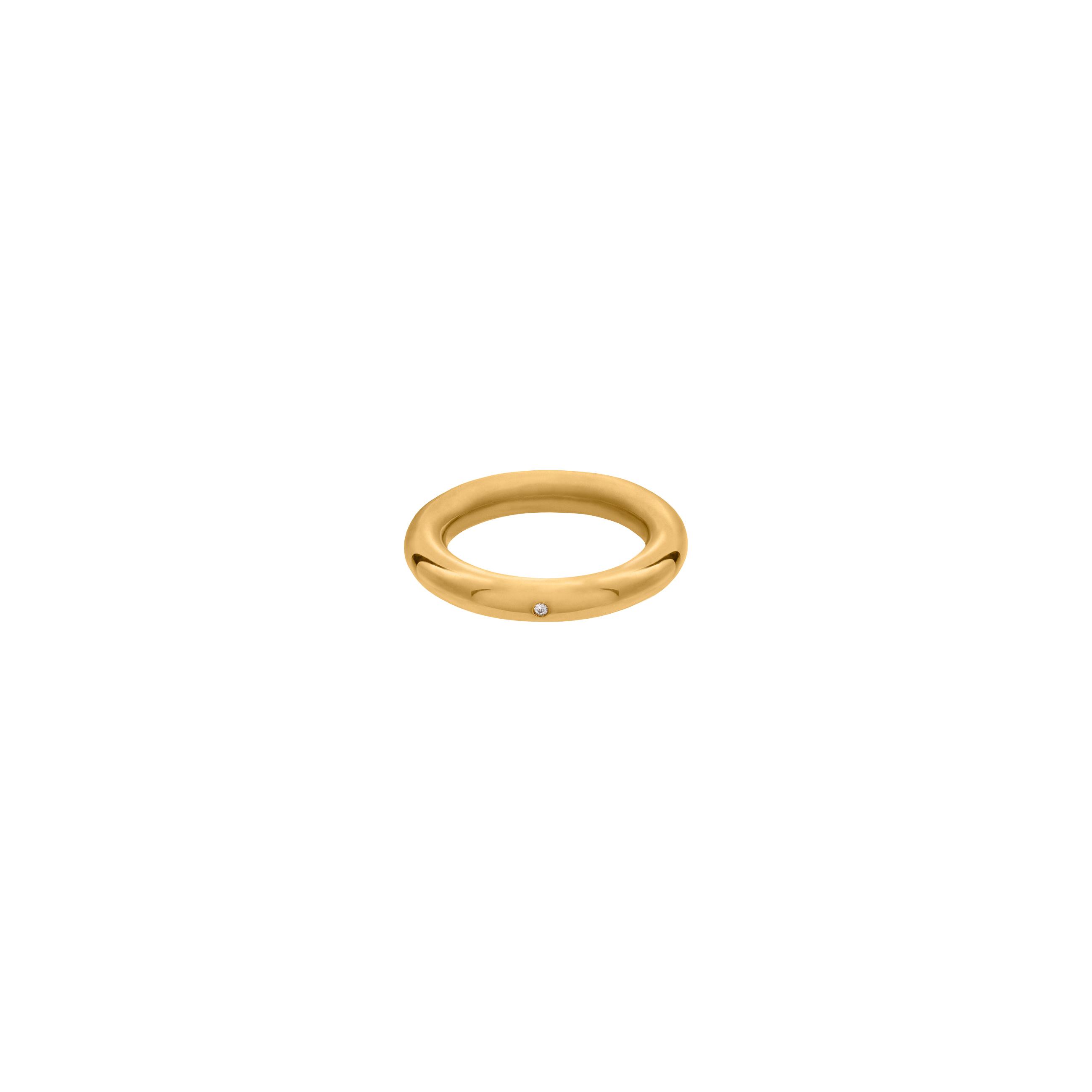 simple zirconia ring / gold