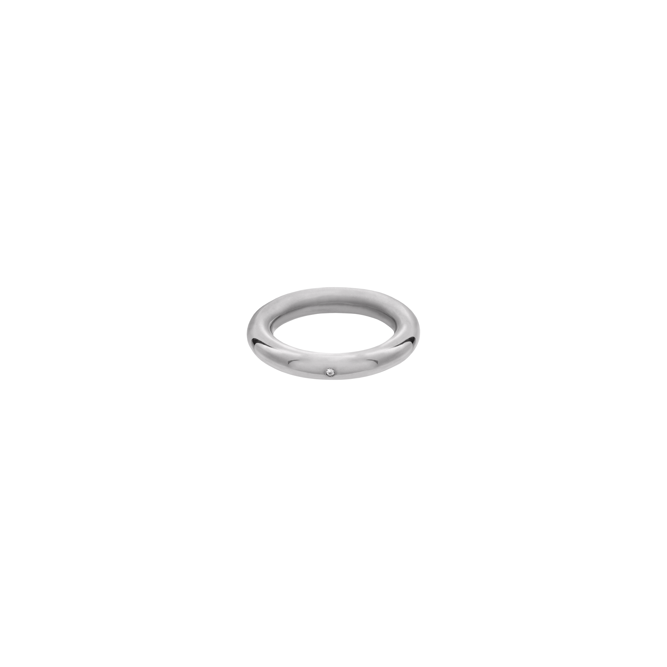 simple zirconia ring / silver