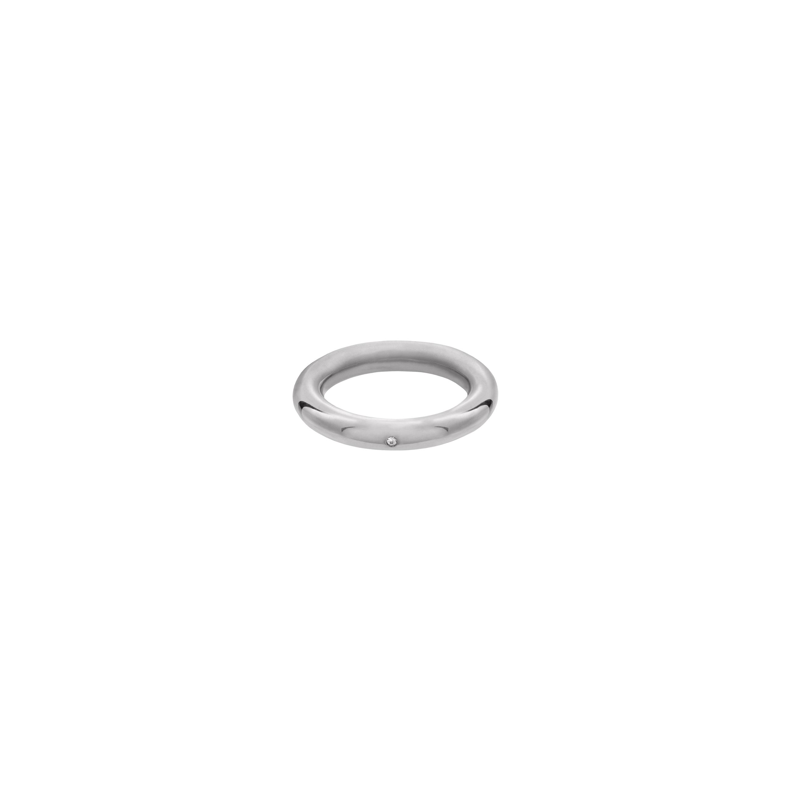 simple zirconia ring / silver