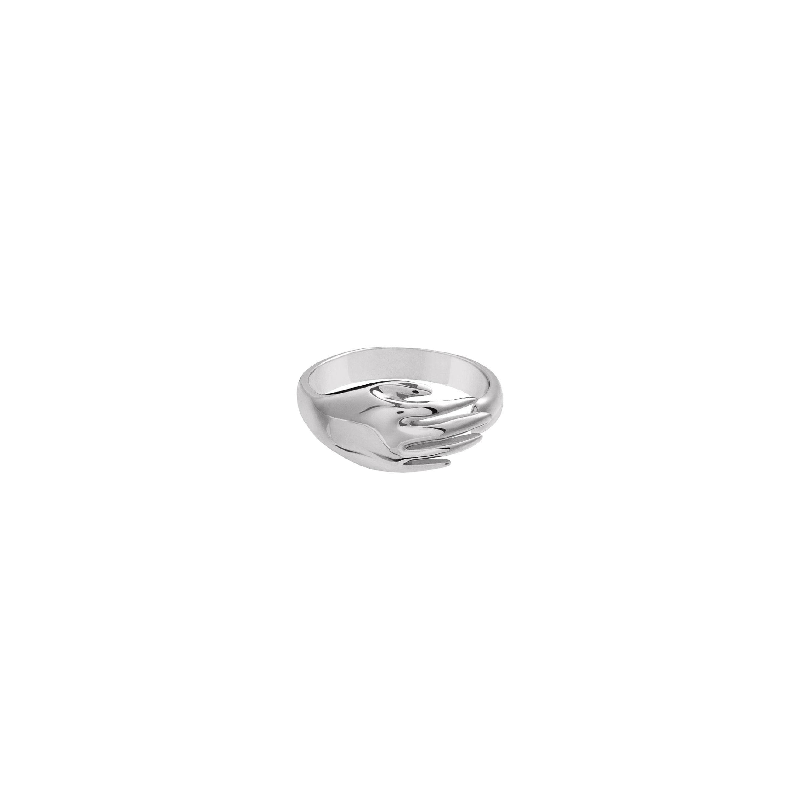 Hand Ring 3D Silver