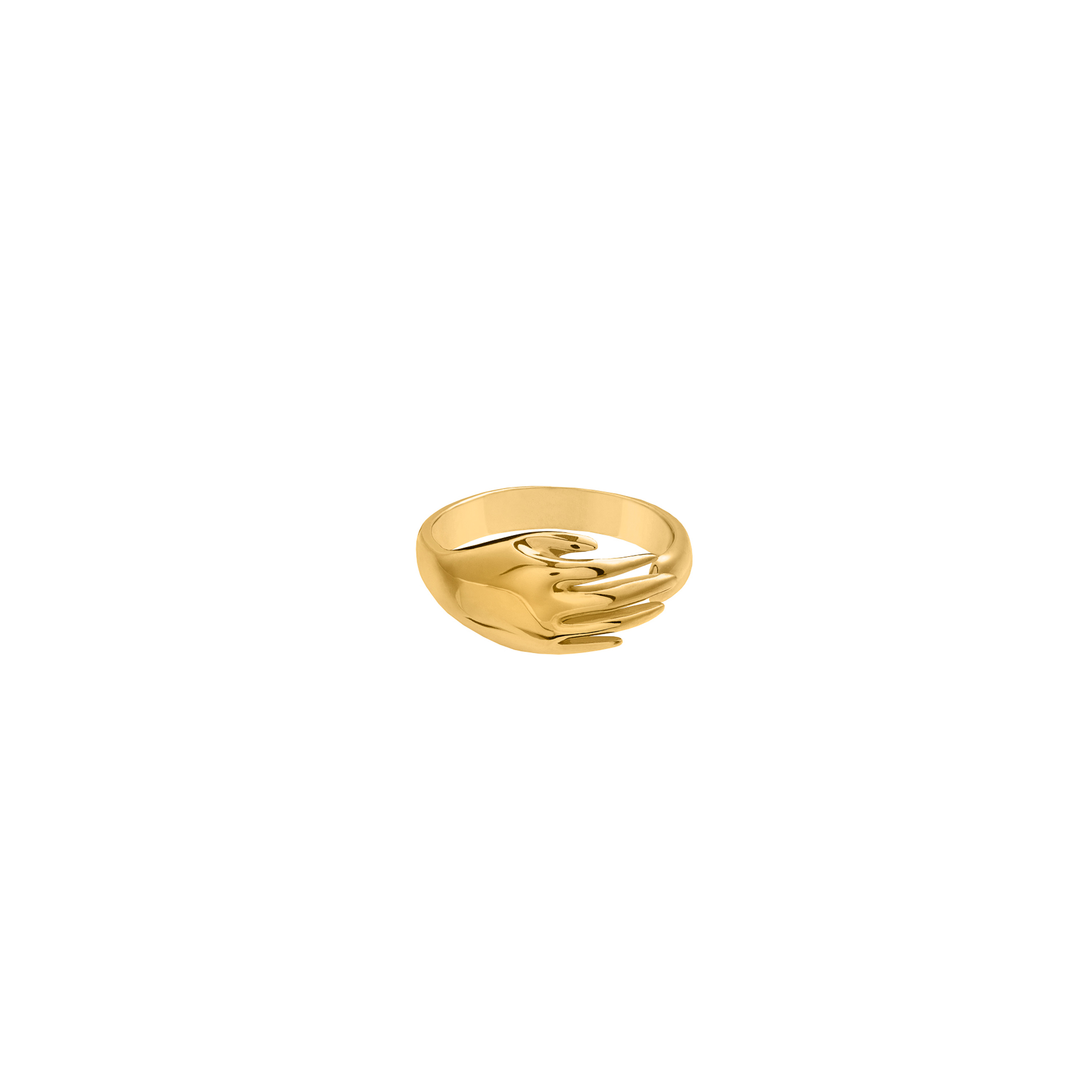 Hand Ring 3D Gold