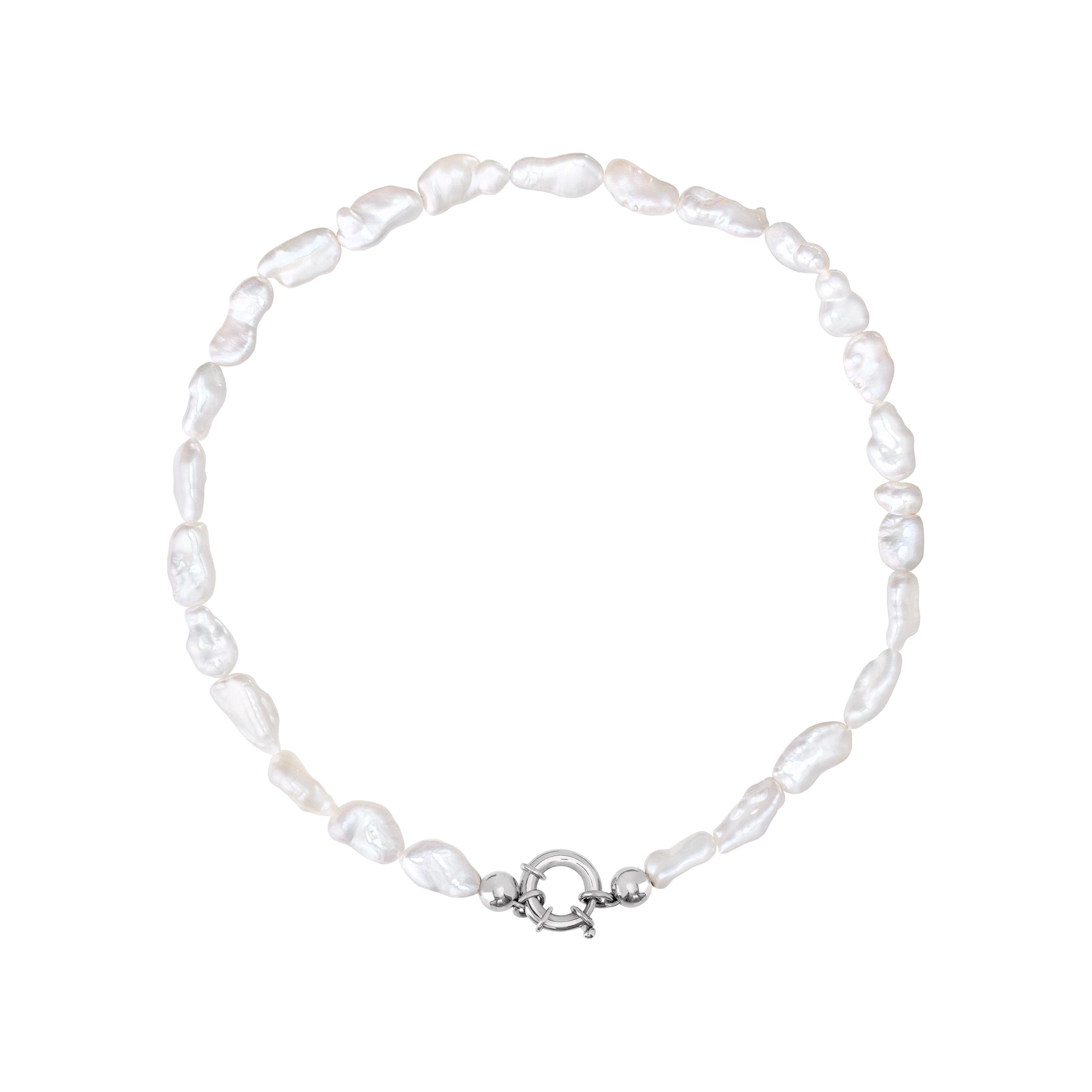pearl choker/ silver