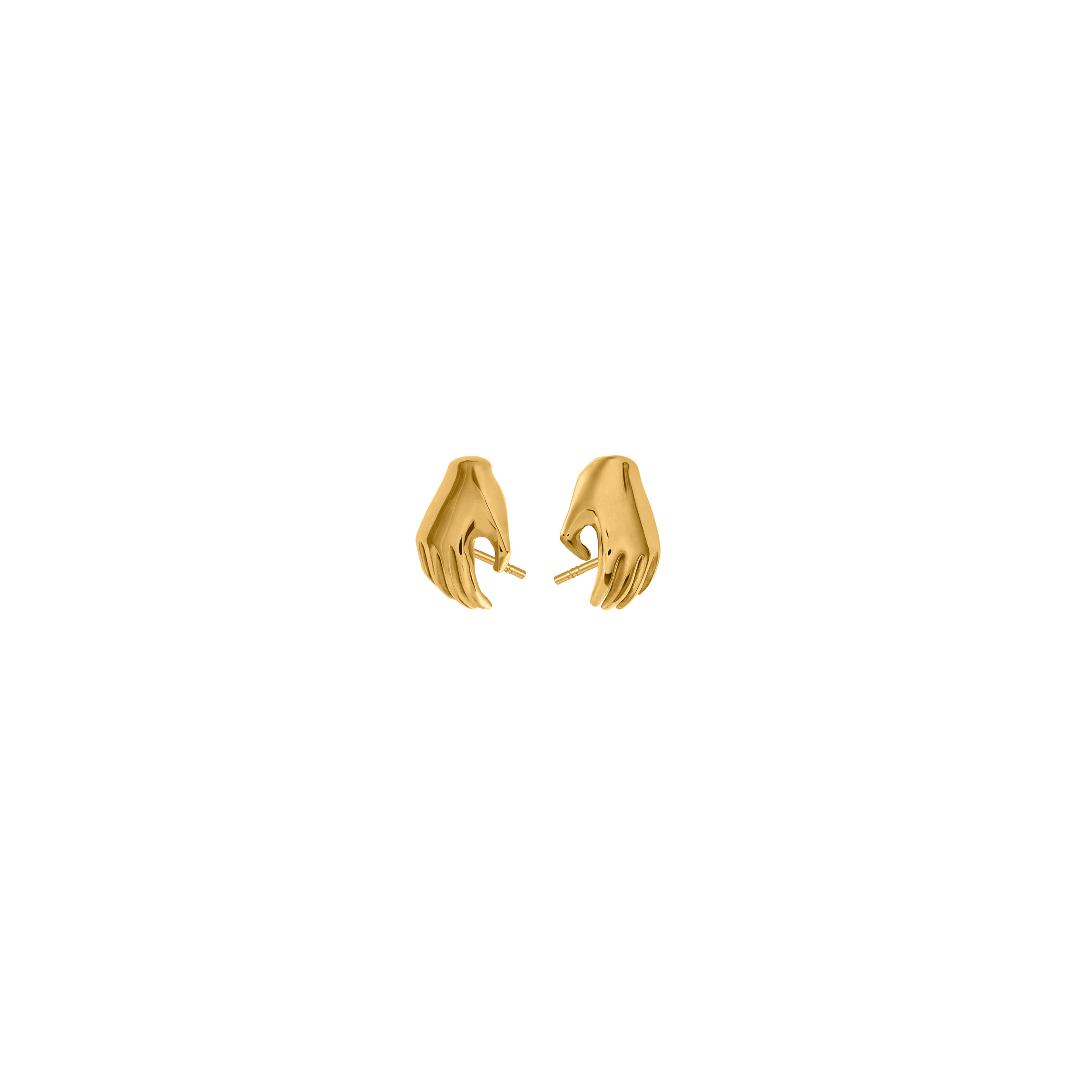Hand Earrings 3D Gold