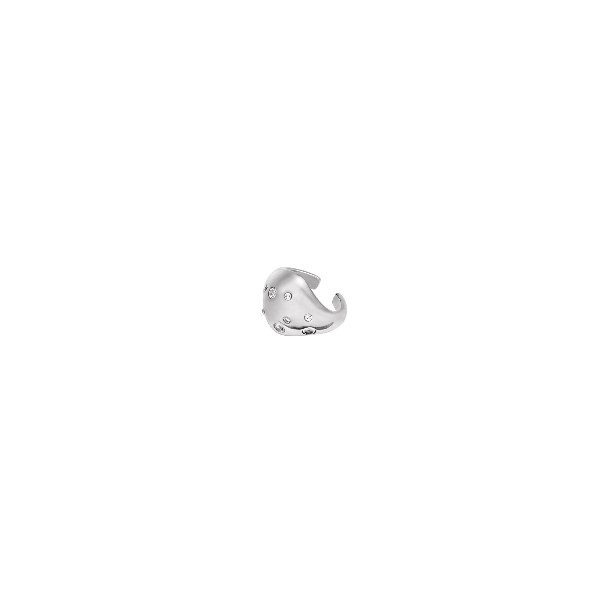 Nausznica Buble Zirconia Silver