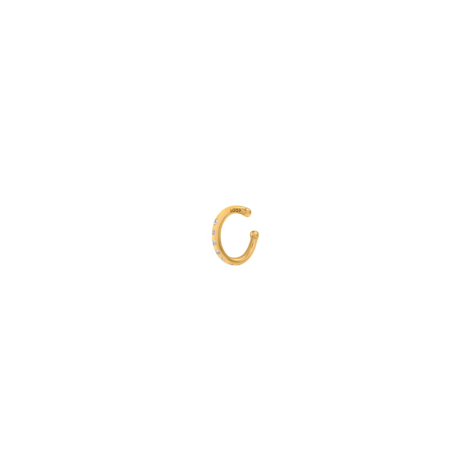 Nausznica Simple Gold Zirconia