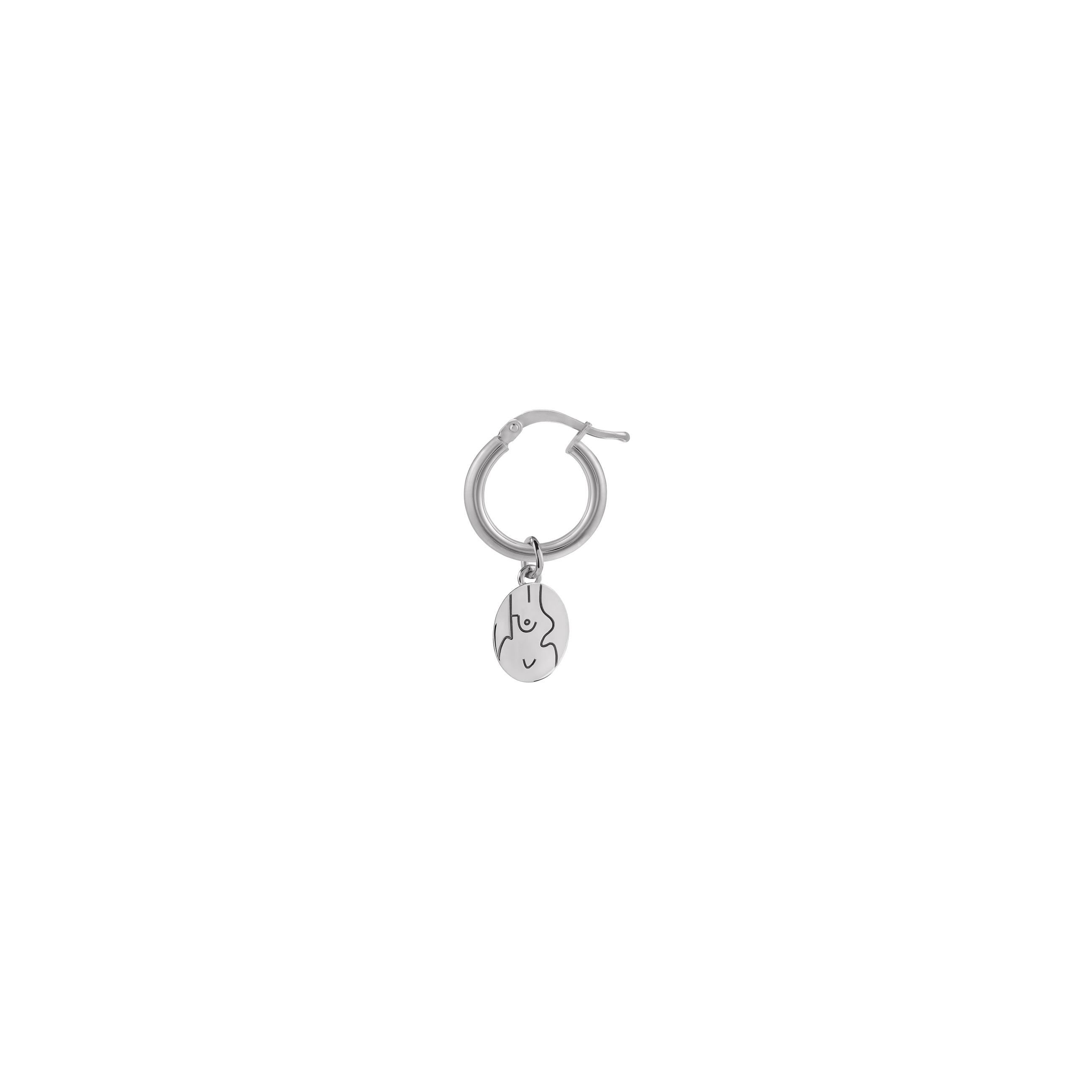 mini Circle féminin / silver