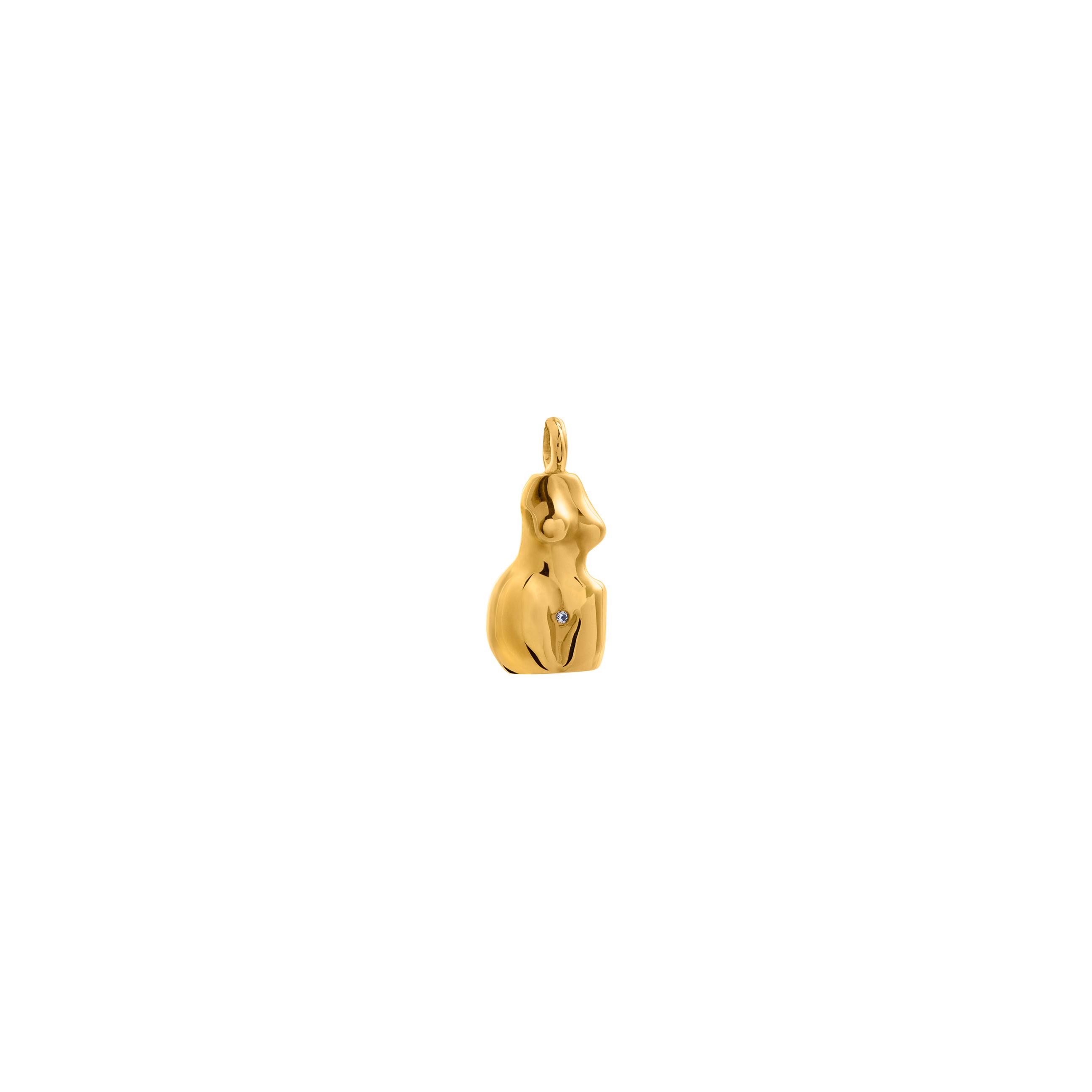 Zawieszka Woman 3D Zirconia Gold
