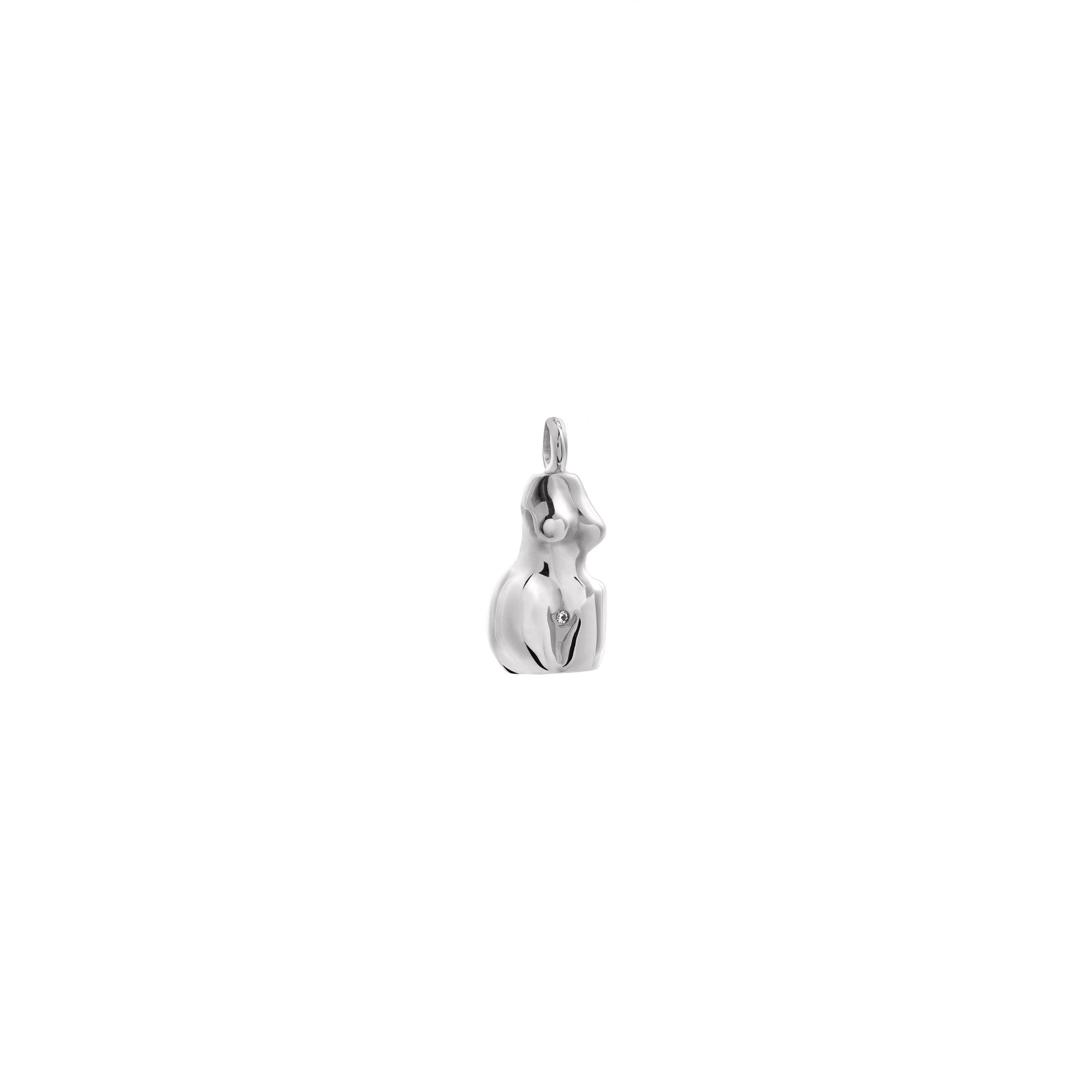 Zawieszka Woman 3D Silver Zirconia