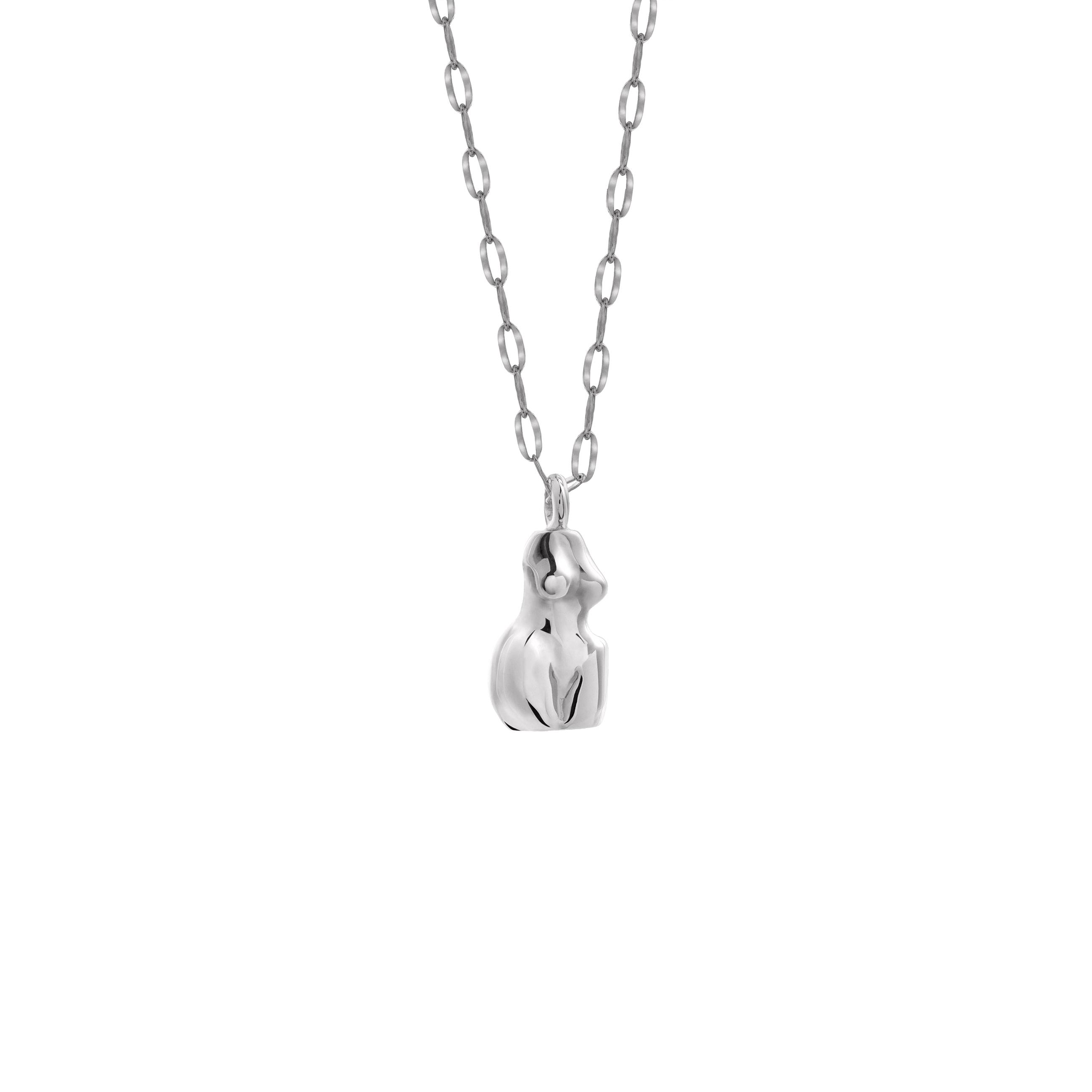 Woman Necklace 3D Silver