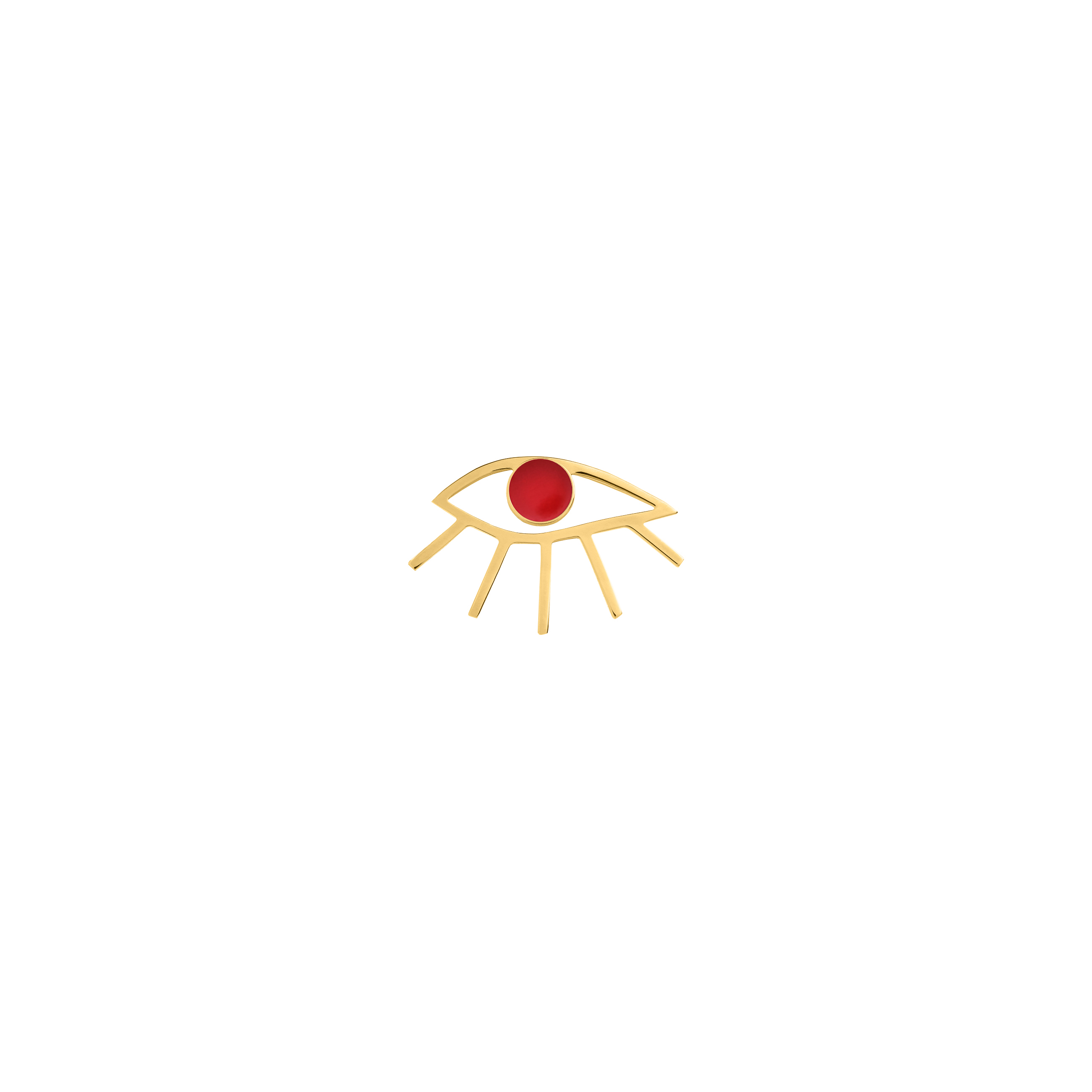 Eye Pin Red
